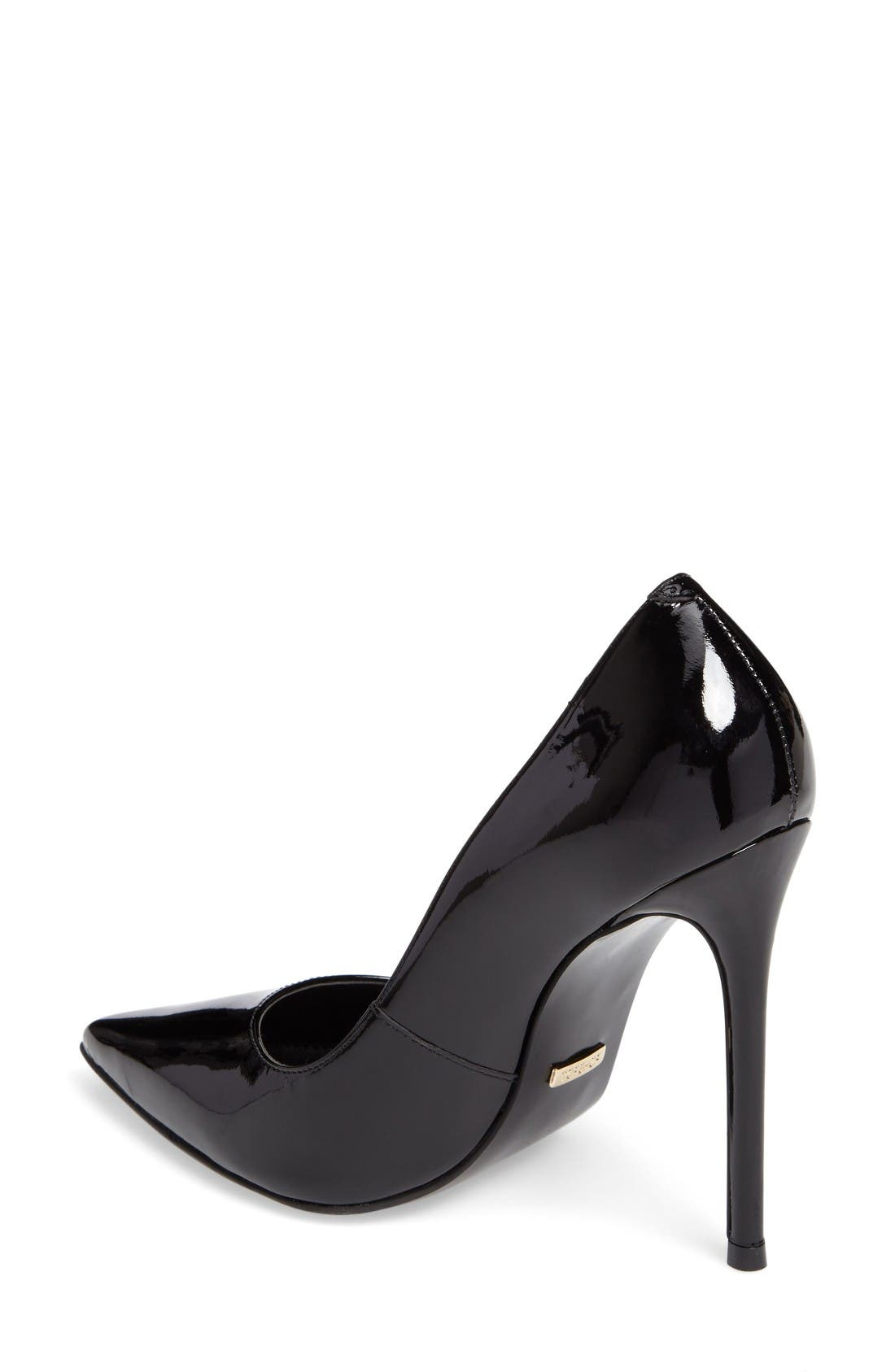 Gamble Pointy Toe Pump,                             Alternate thumbnail 2, color,                             Black
