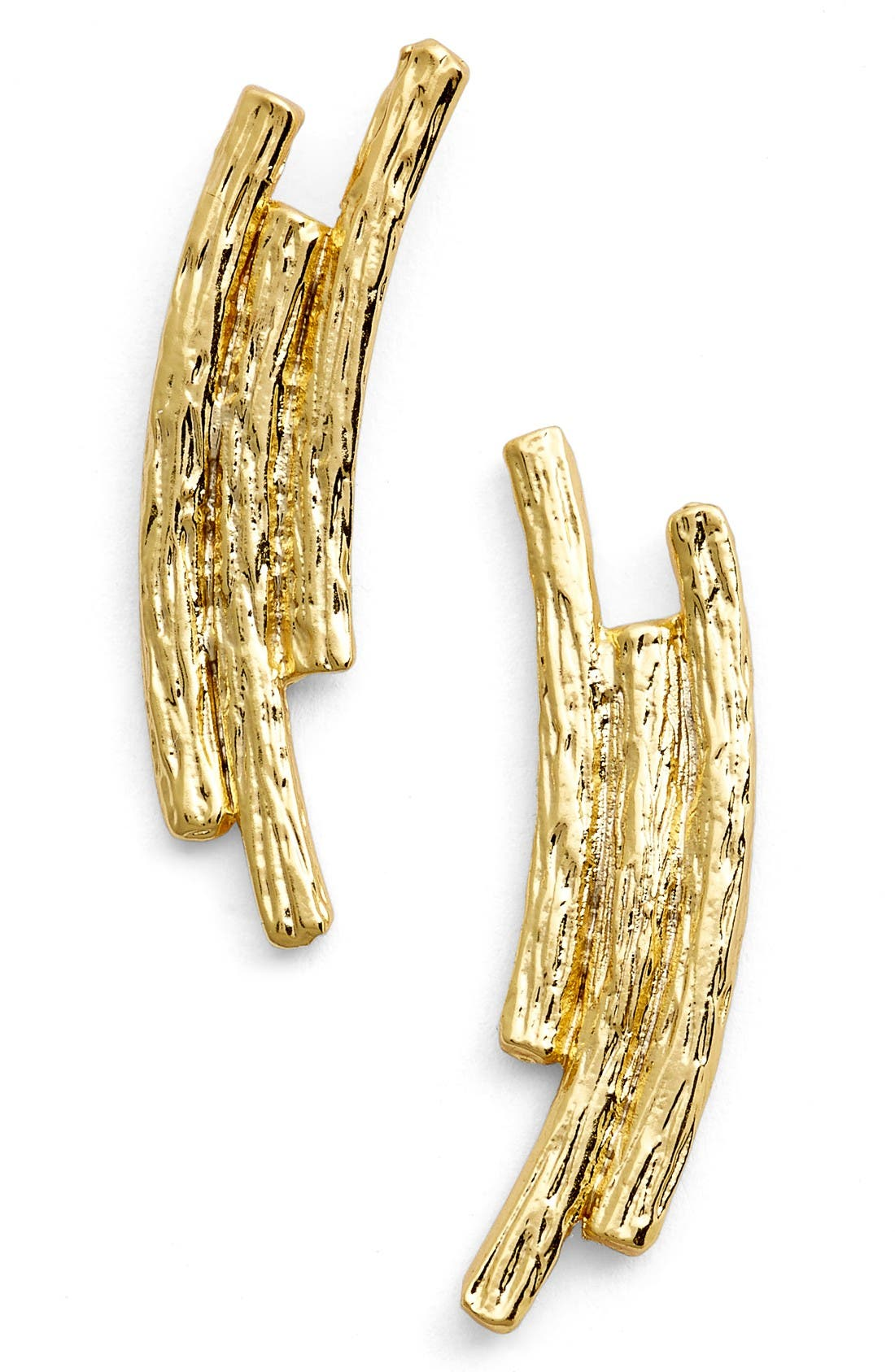 KARINE SULTAN Three Row Drop Earrings