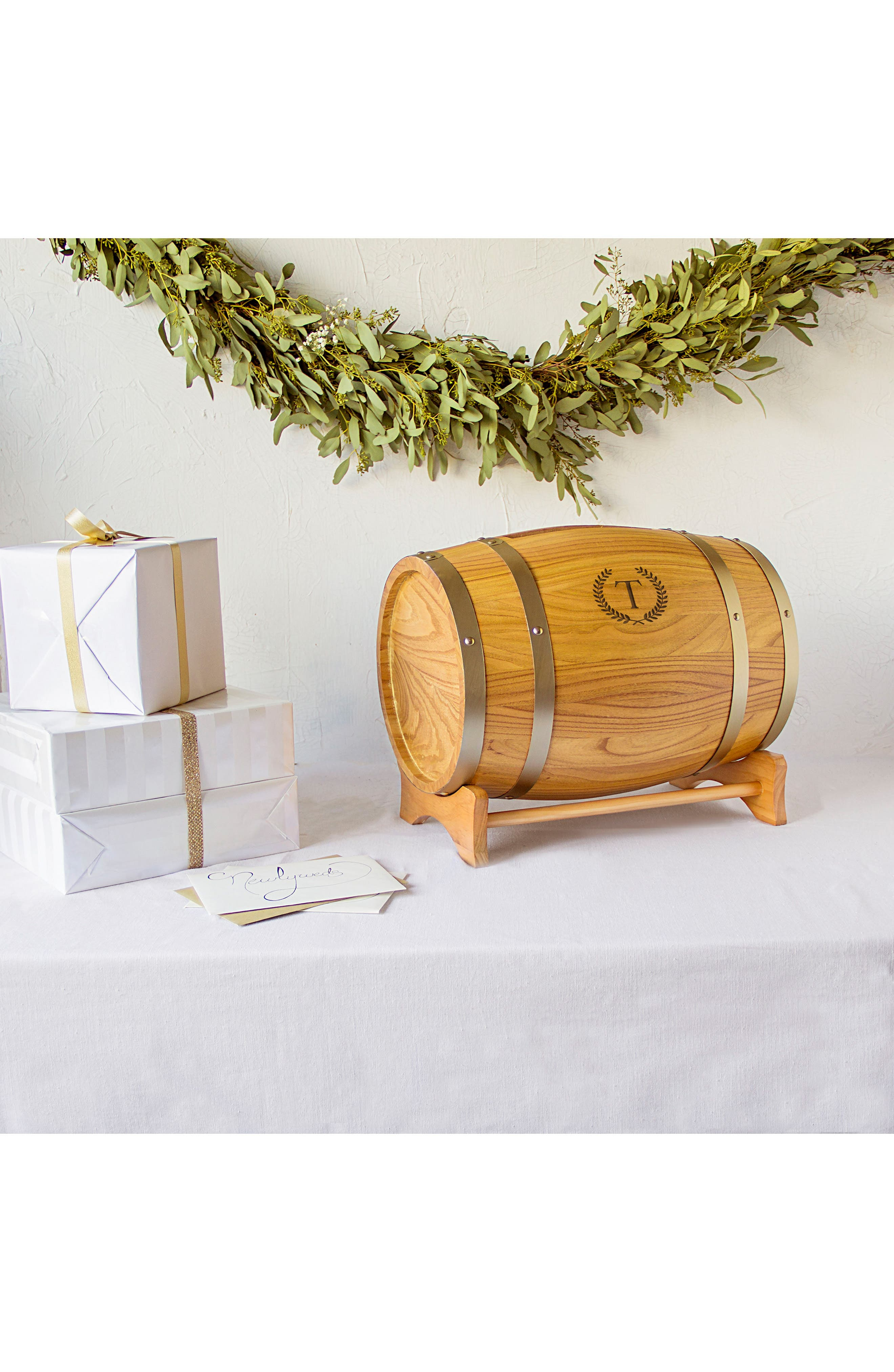 Alternate Image 6  - Cathy's Concepts Wine Barrel Reception Card Holder