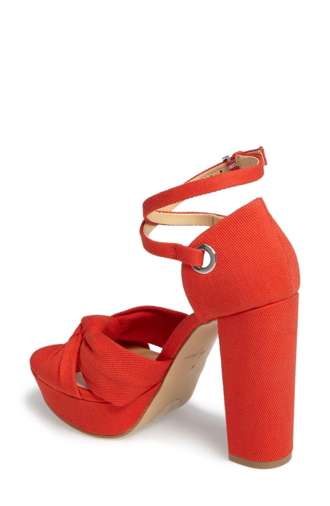 by Zendaya Mission Ankle Wrap Platform Pump,                             Alternate thumbnail 2, color,                             Mandarin Red