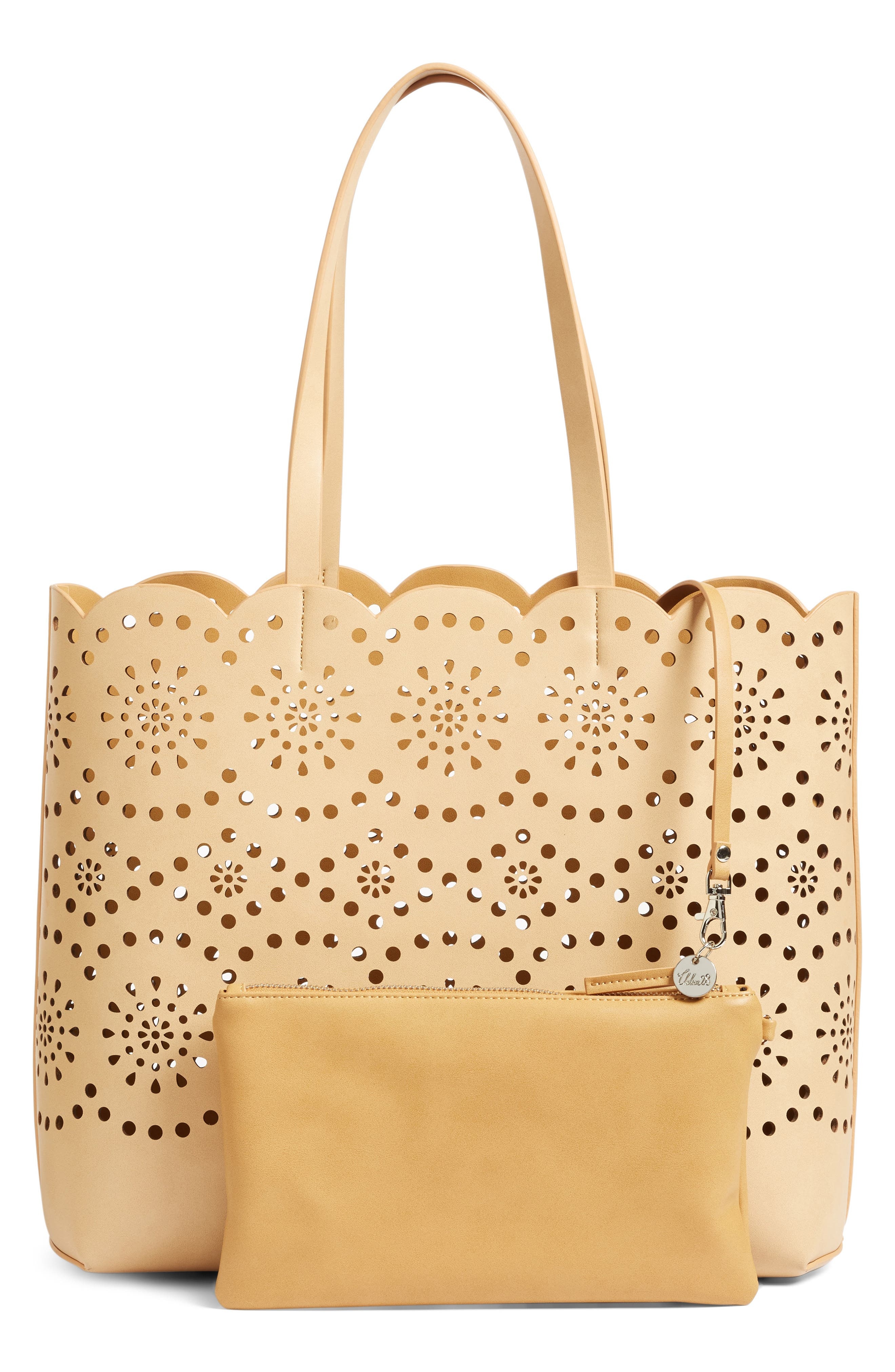 Alternate Image 3  - Chelsea28 Lily Scallop Faux Leather Tote