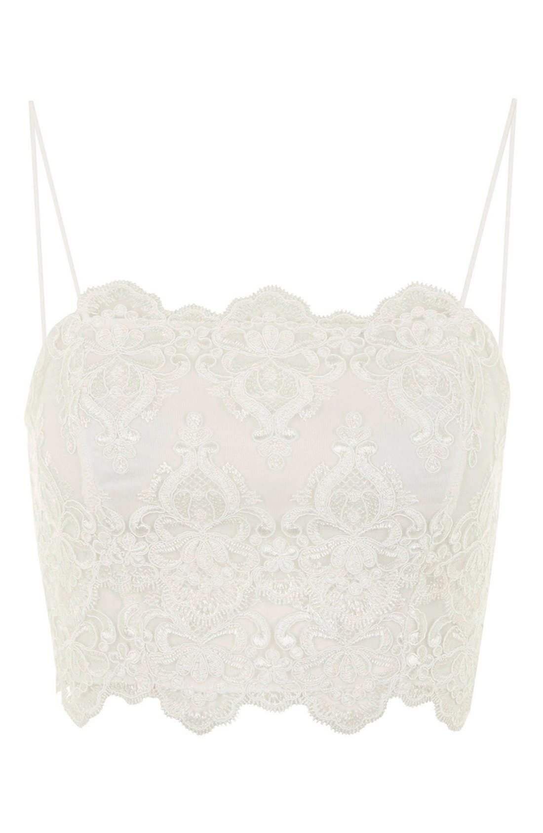 Alternate Image 3  - Topshop Scalloped Lace Bralette