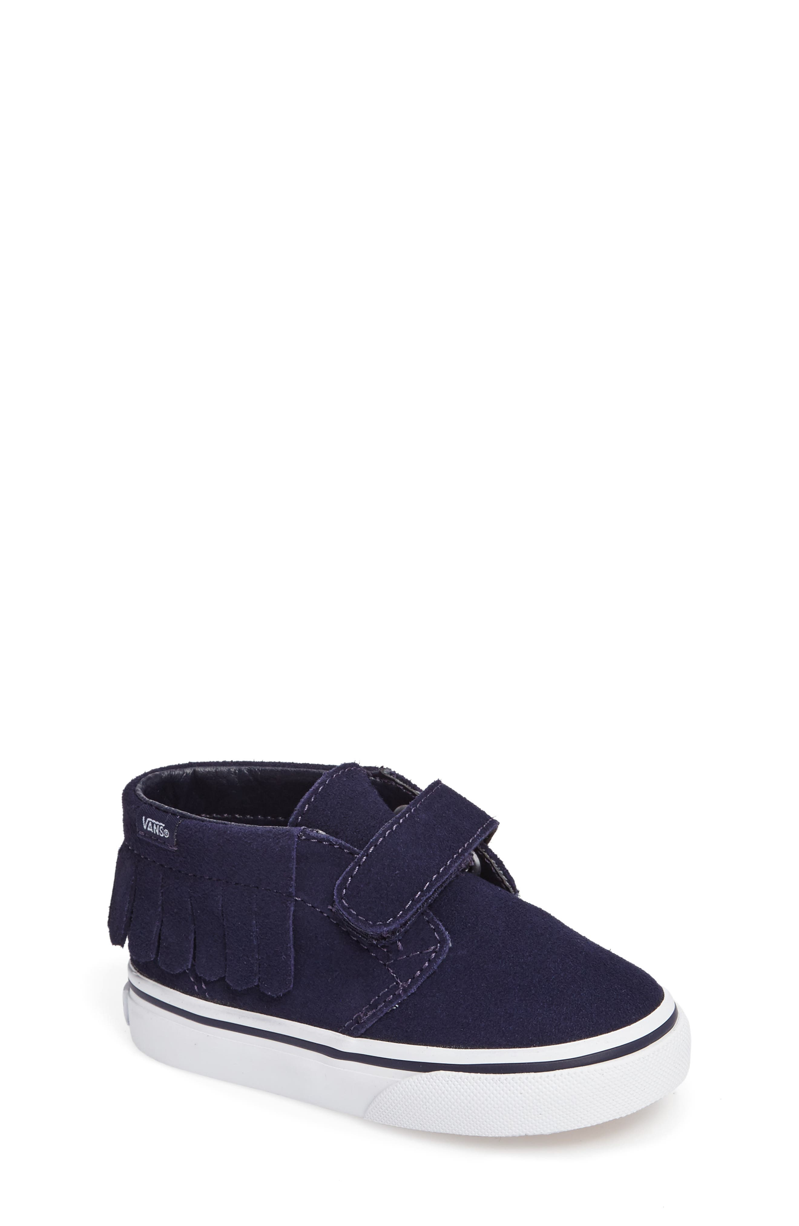 Chukka V Moc Slip-On,                             Main thumbnail 1, color,                             Bel Air Blue Suede