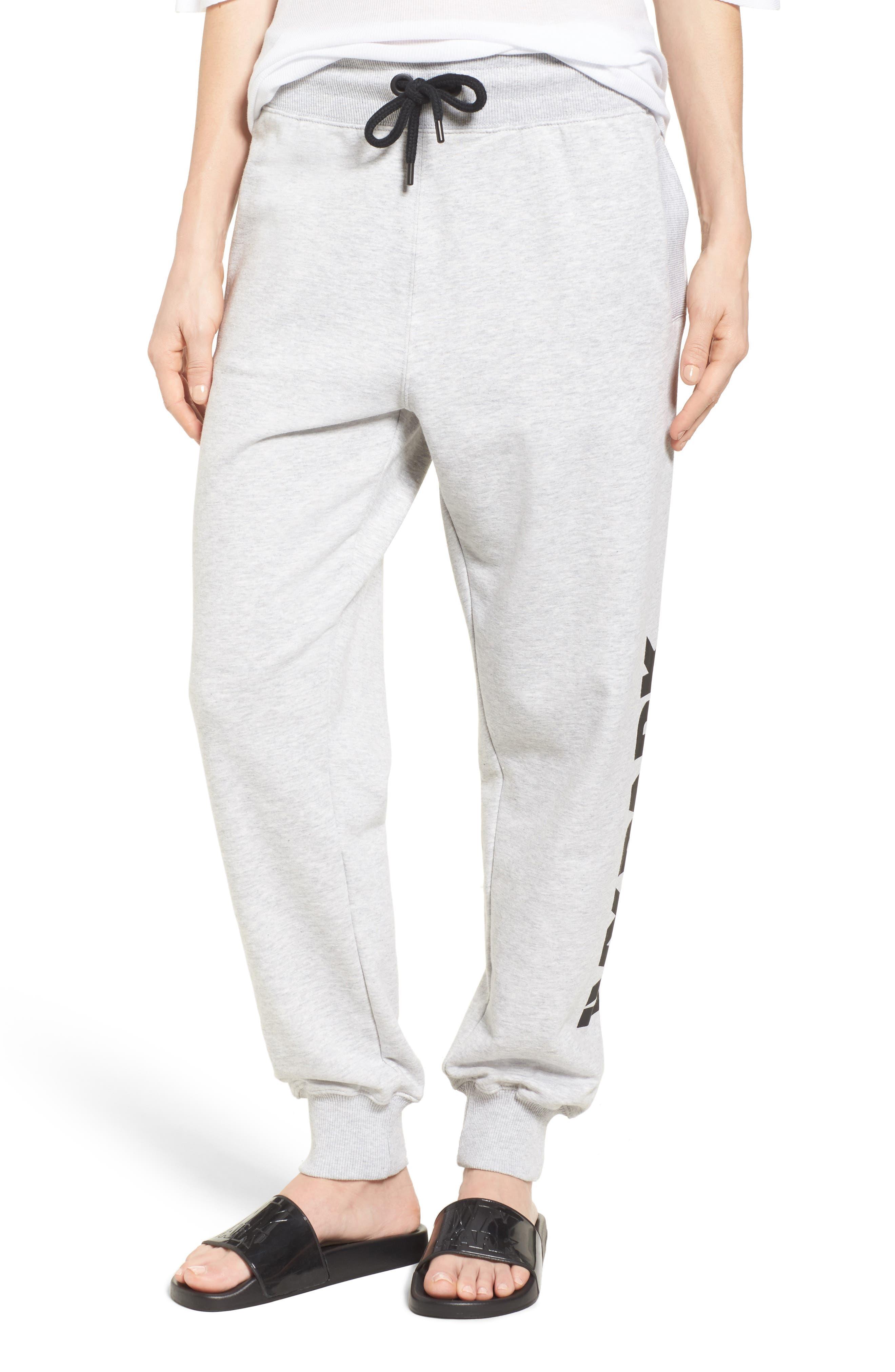 Logo Jogger Pants,                         Main,                         color, Light Grey Marl