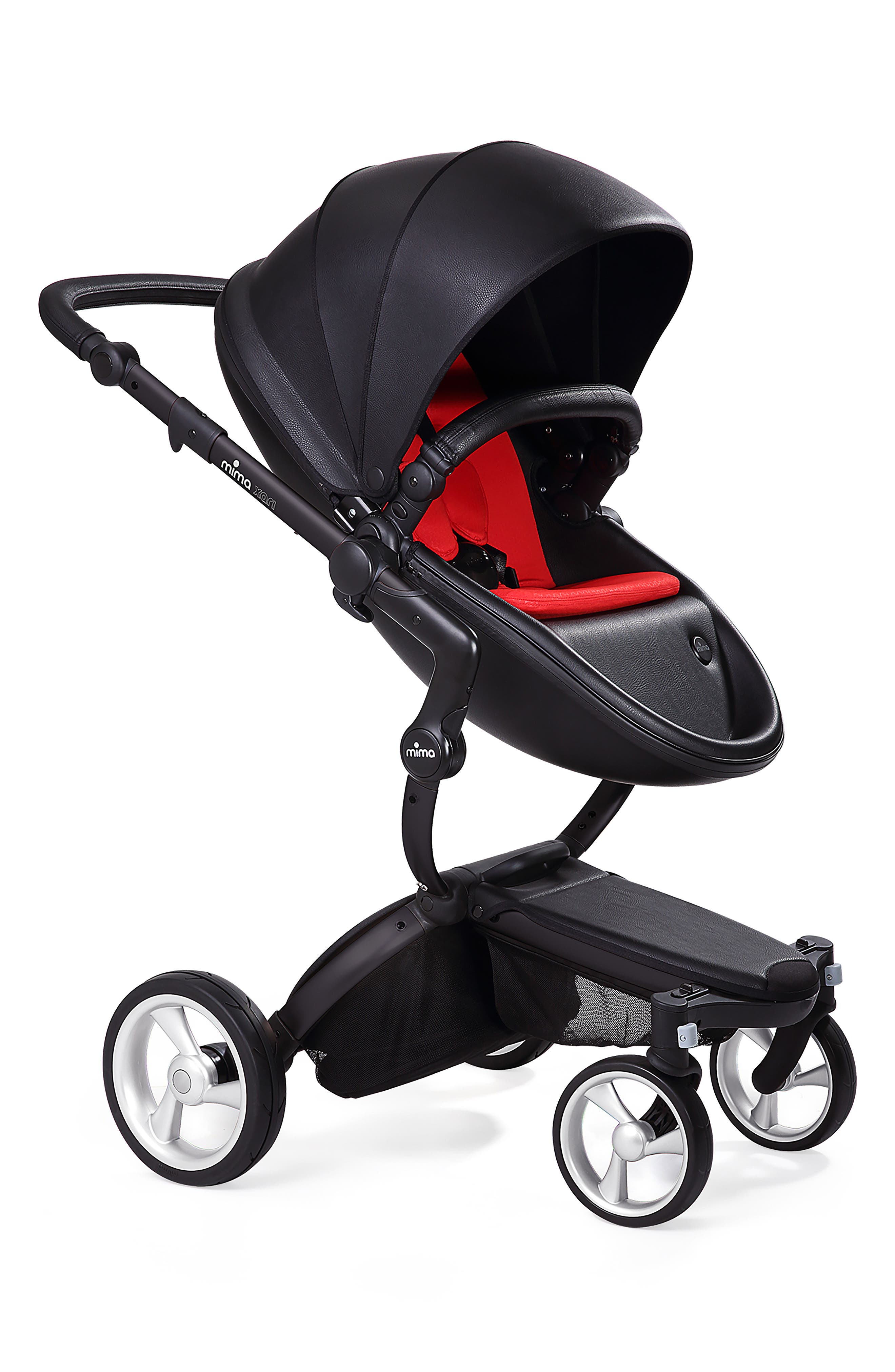 Alternate Image 1 Selected - Mima Xari Black Chassis Stroller with Reversible Reclining Seat & Carrycot