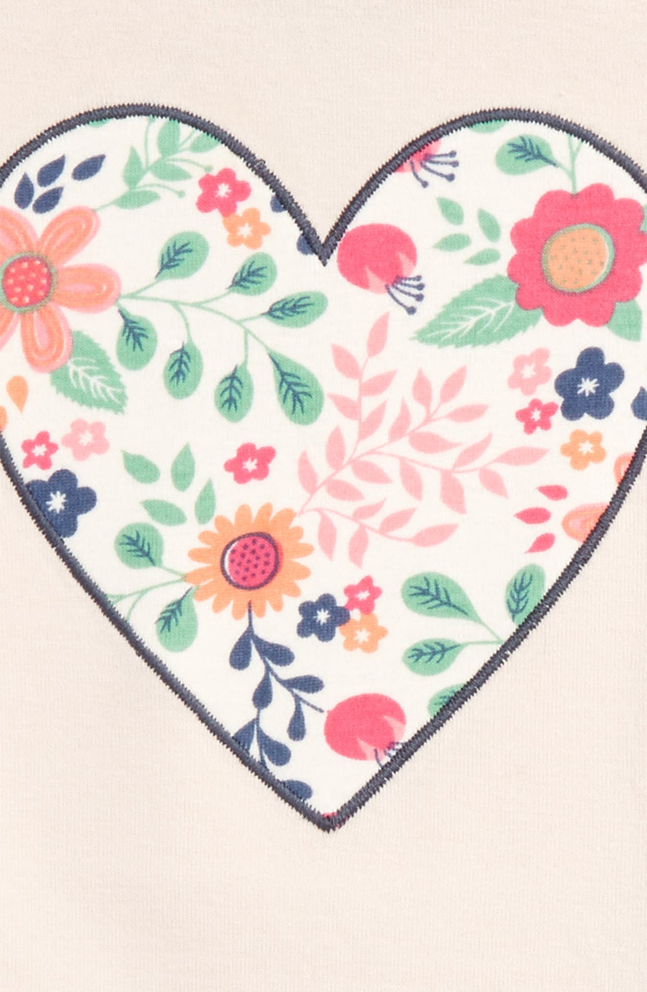 Fitted Two-Piece Pajamas,                             Alternate thumbnail 2, color,                             Pink Peony Bud Floral Heart