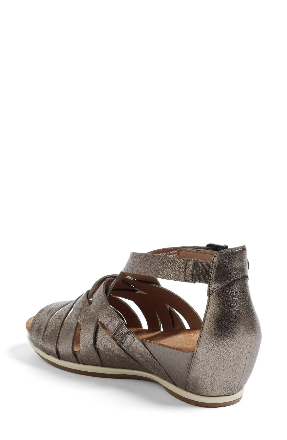 Vivian Gladiator Sandal,                             Alternate thumbnail 2, color,                             Pewter Leather