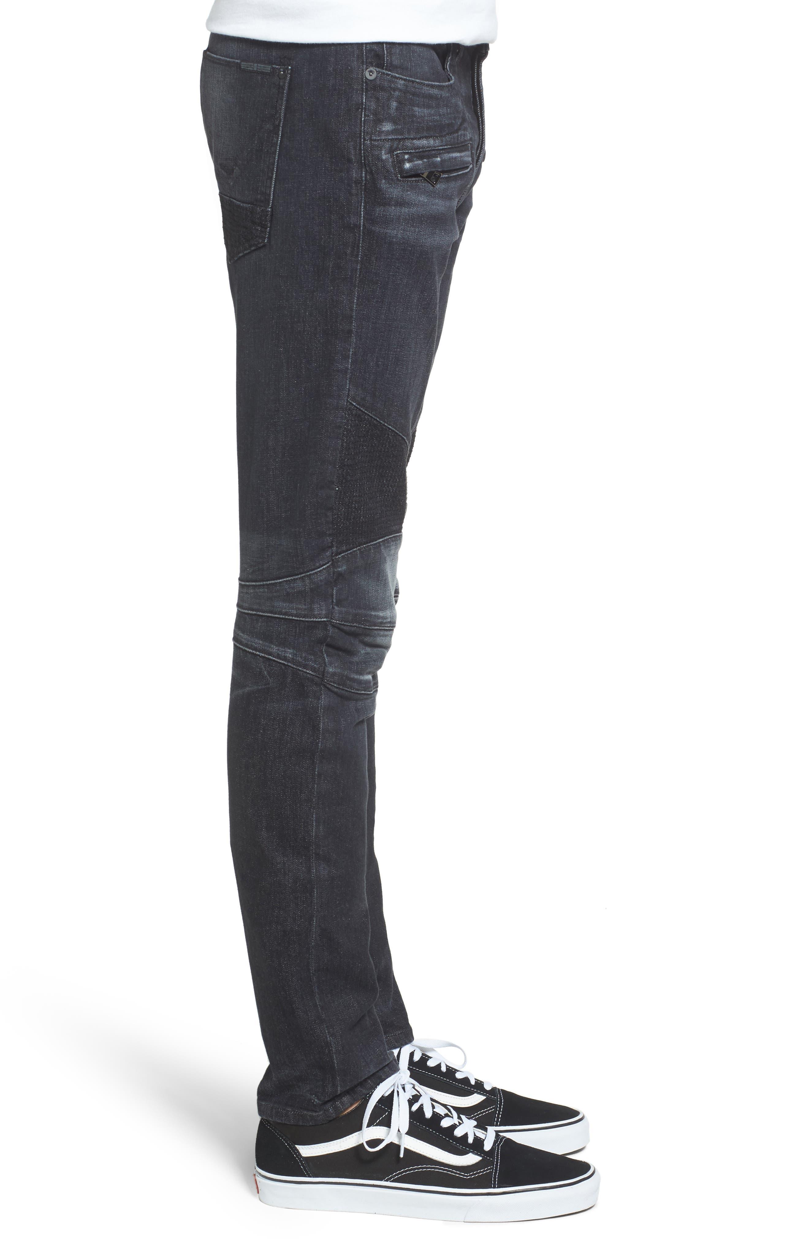 Blinder Skinny Fit Moto Jeans,                             Alternate thumbnail 3, color,                             Sparring 2