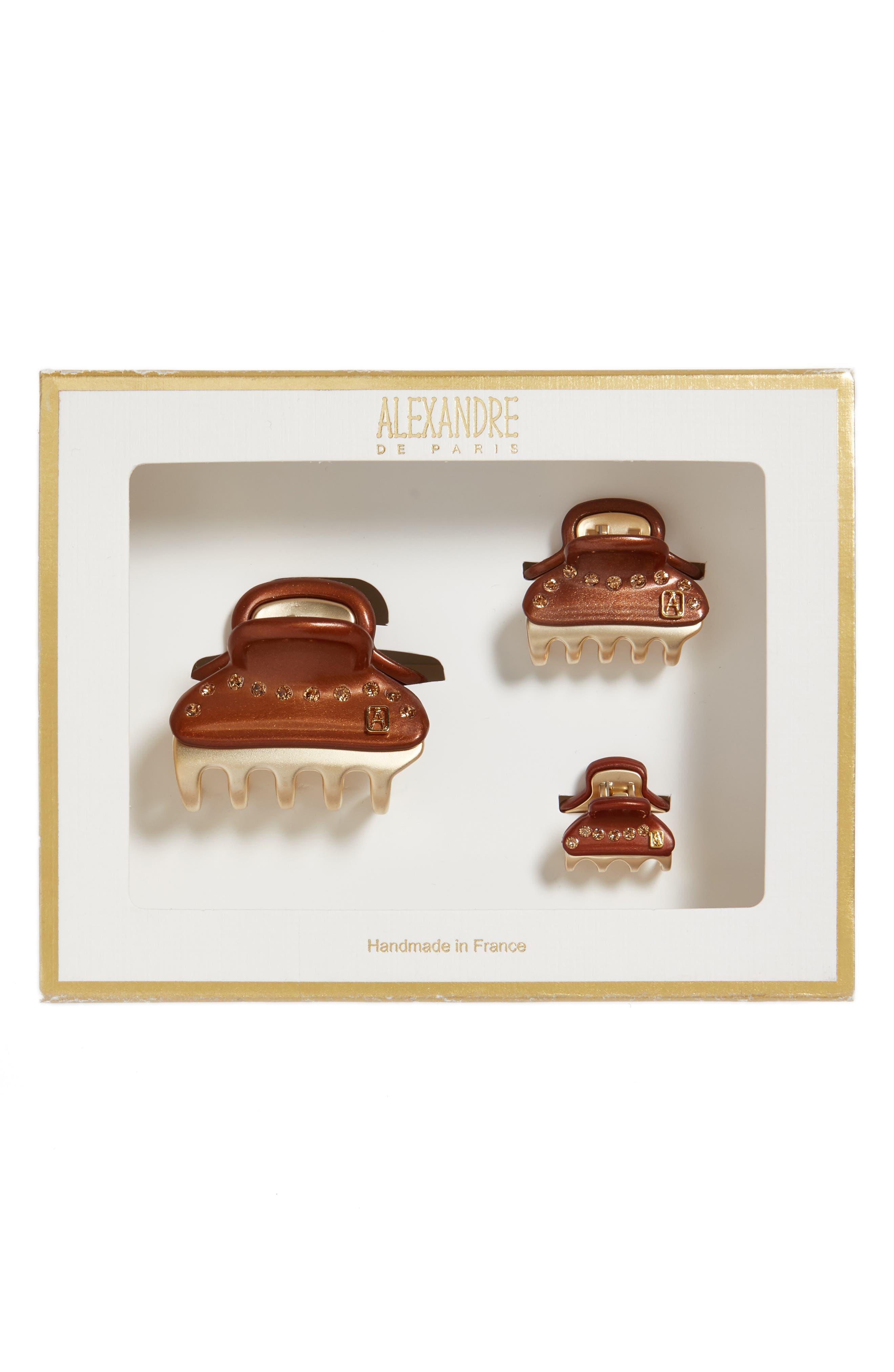 Alexandre de Paris Vendome Set of 3 Hair Clips