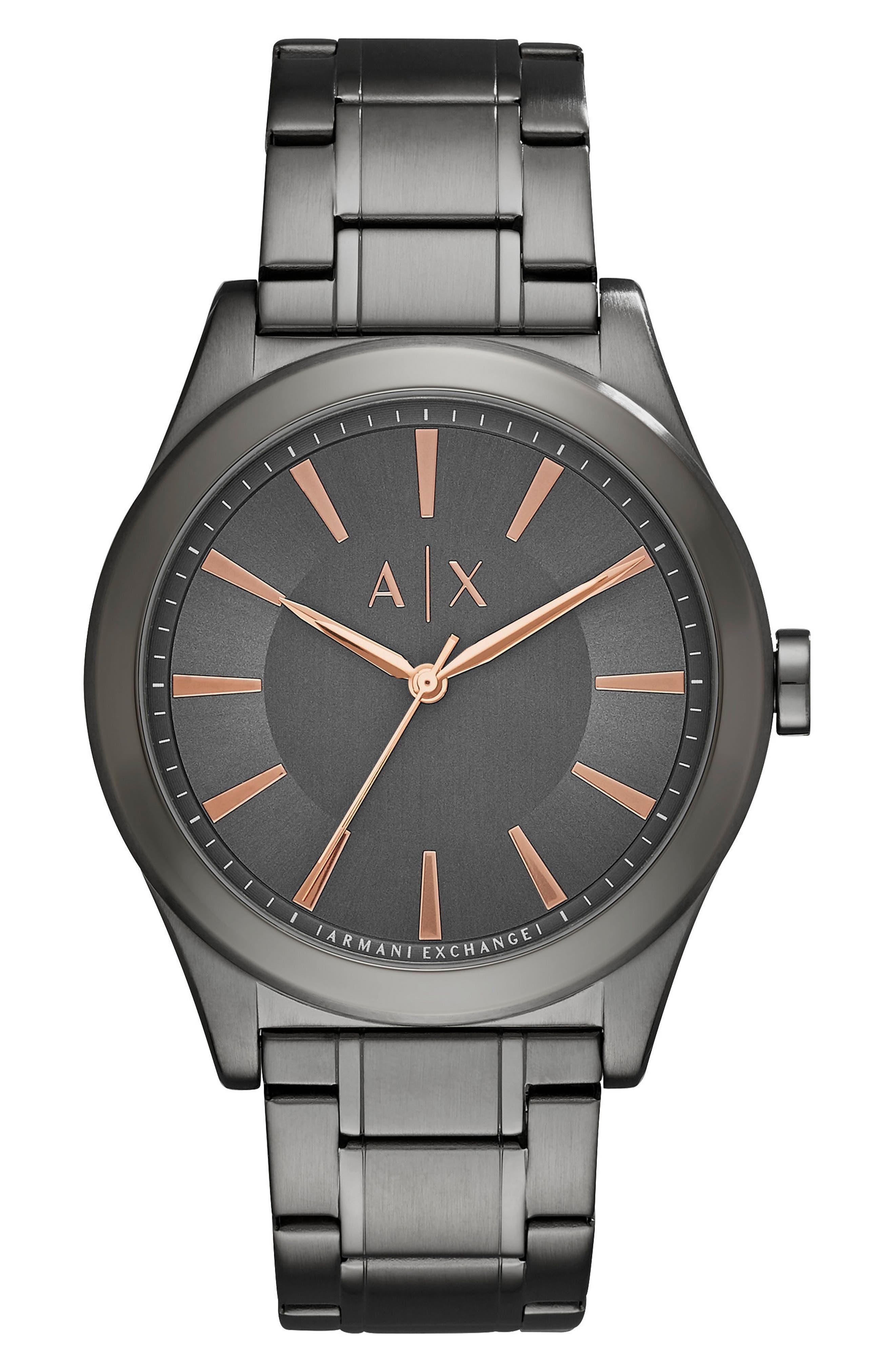 Main Image - AX Armani Exchange Bracelet Watch, 44mm