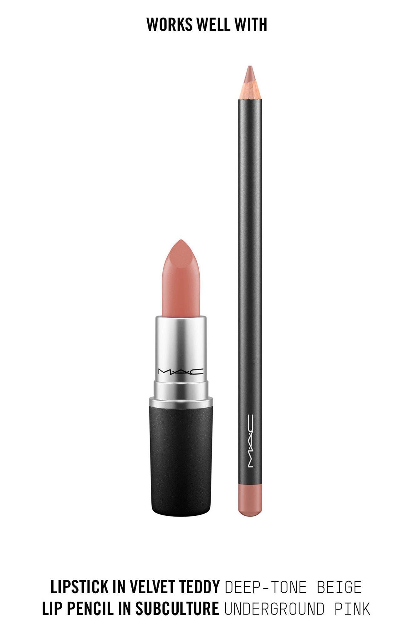 MAC Nude Lipstick,                             Alternate thumbnail 3, color,                             Velvet Teddy (M)