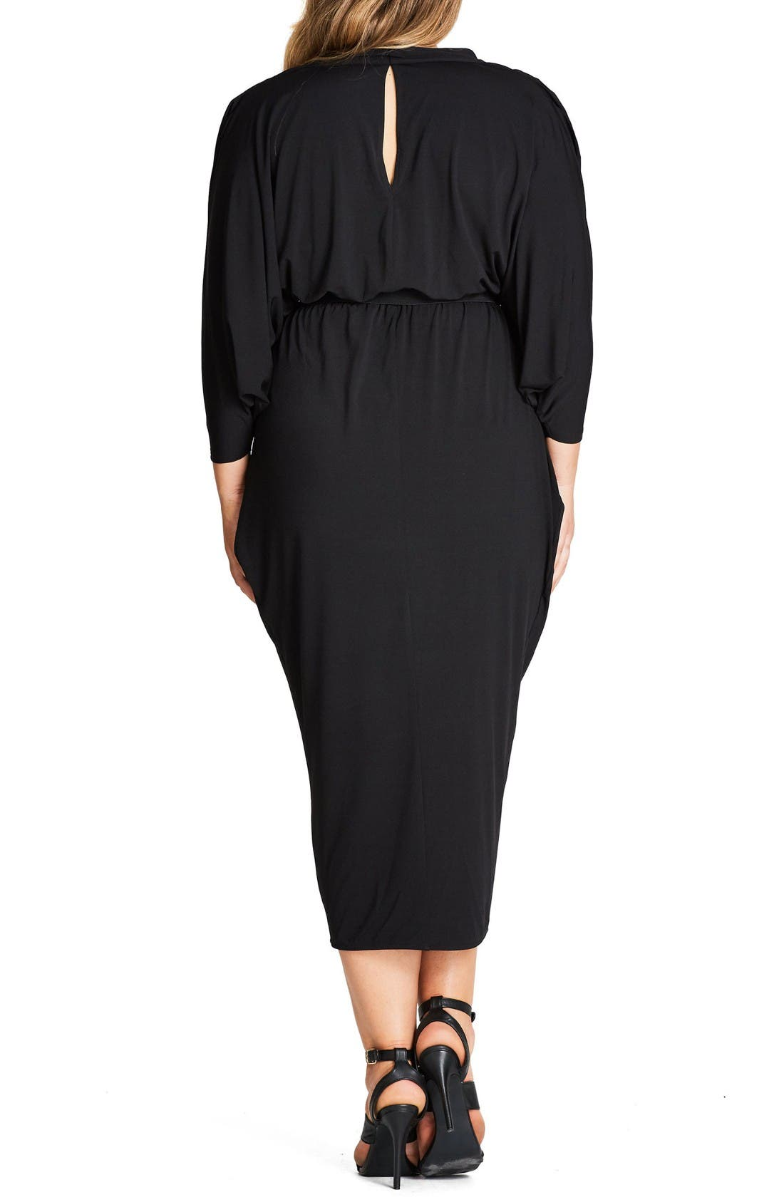 Alternate Image 2  - City Chic Va Va Voom Belted Maxi Dress (Plus Size)
