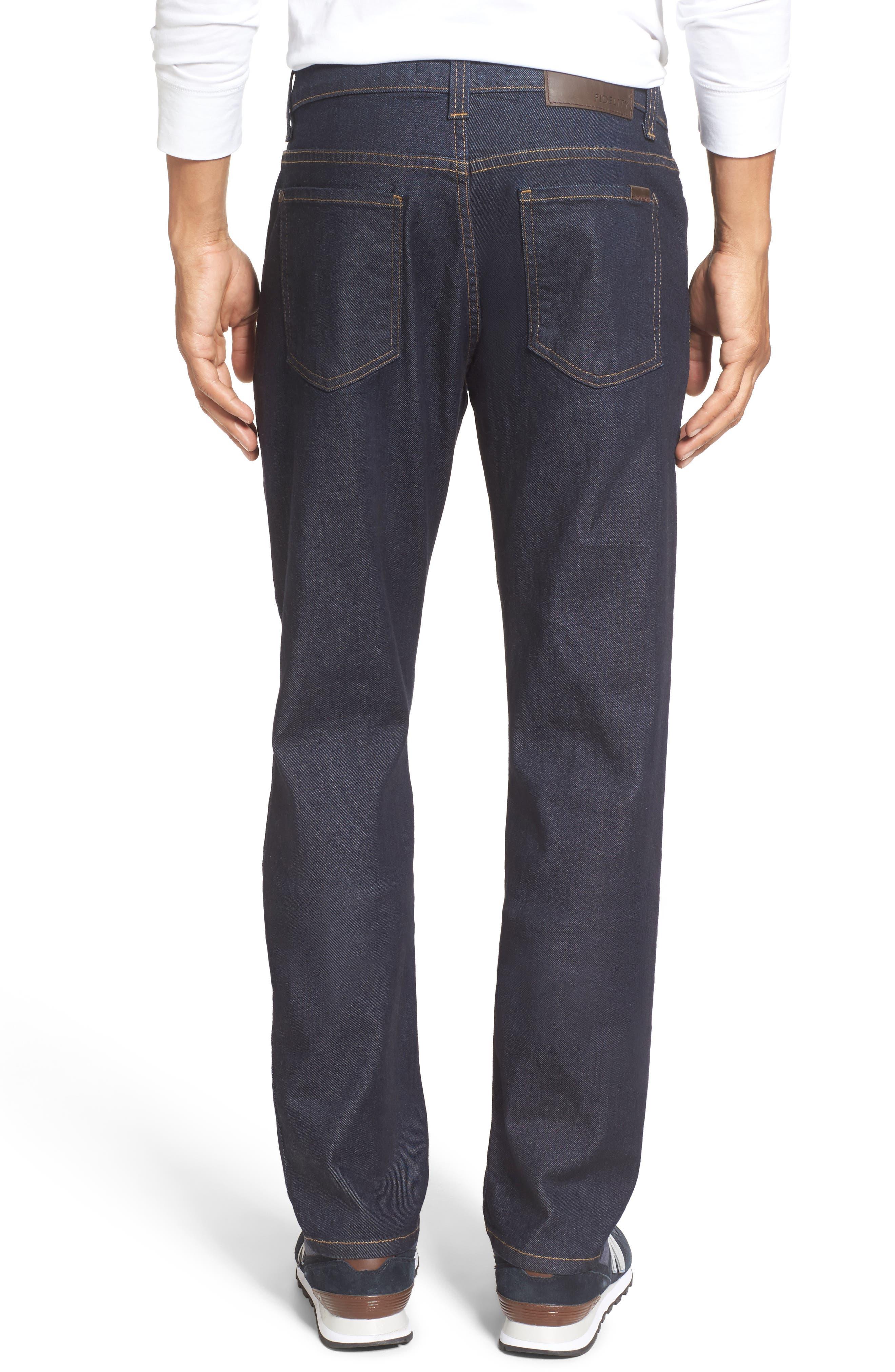 Alternate Image 2  - Fidelity Denim Jimmy Slim Straight Leg Jeans (Halo Rinse)