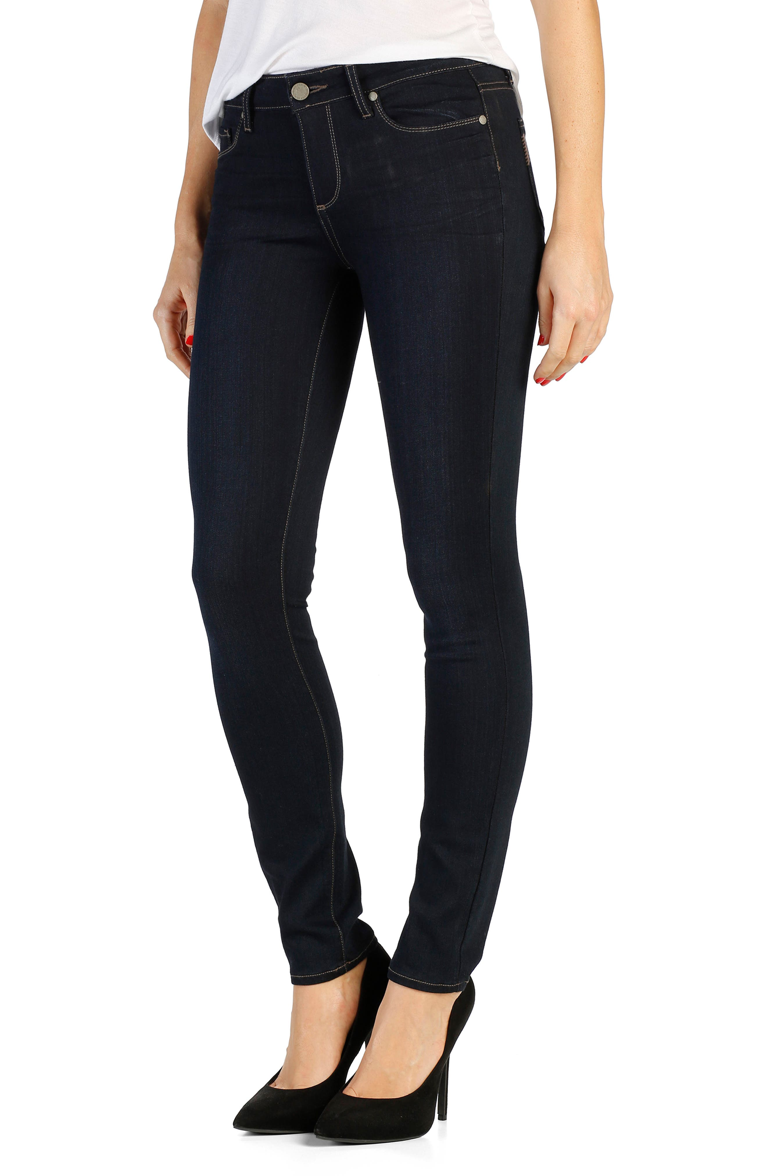 Alternate Image 1 Selected - PAIGE Transcend - Leggy Ultra Skinny Jeans (Mona) (Long)