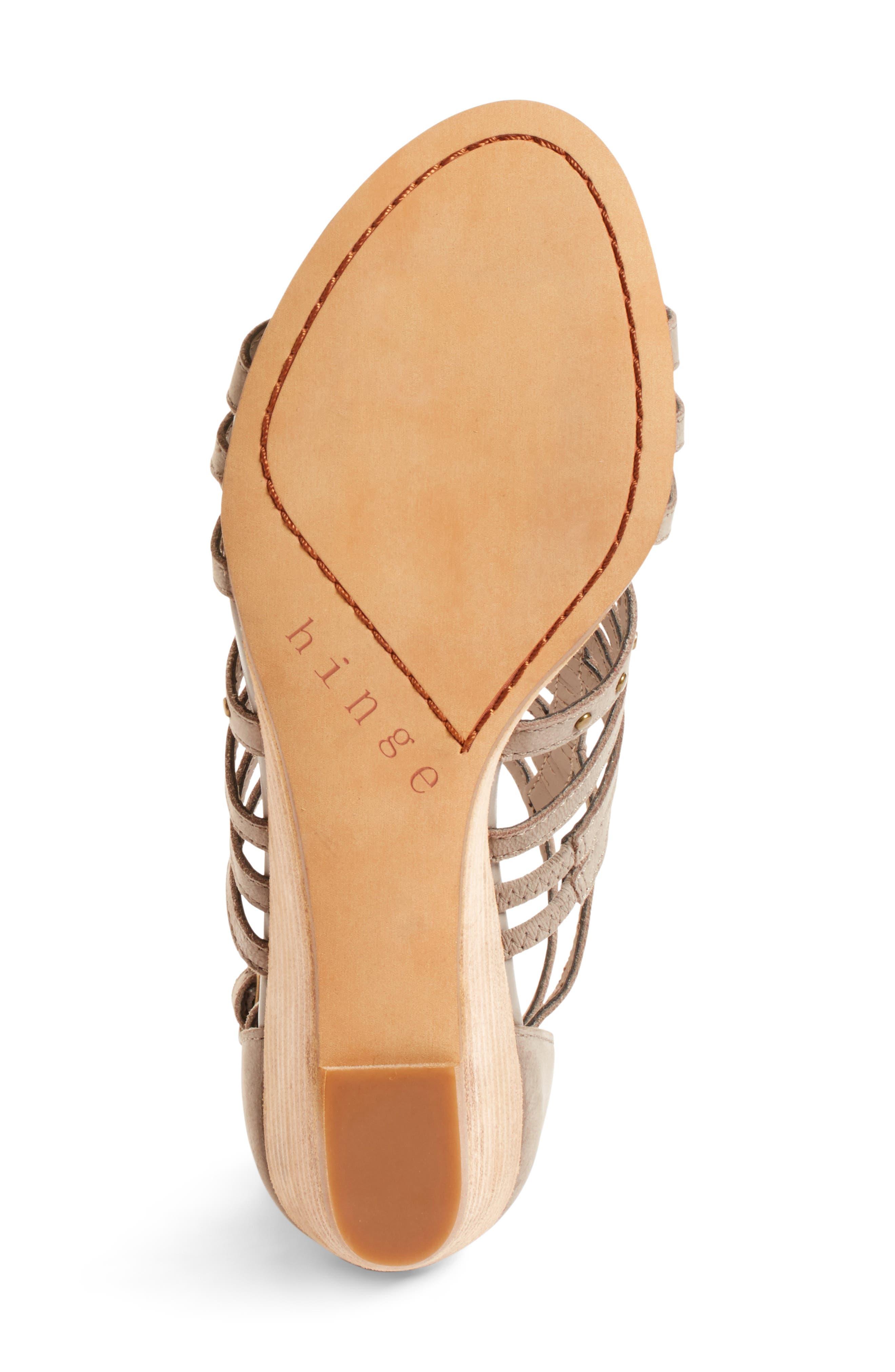 Alternate Image 4  - Hinge Nolan Strappy Wedge Sandal (Women)