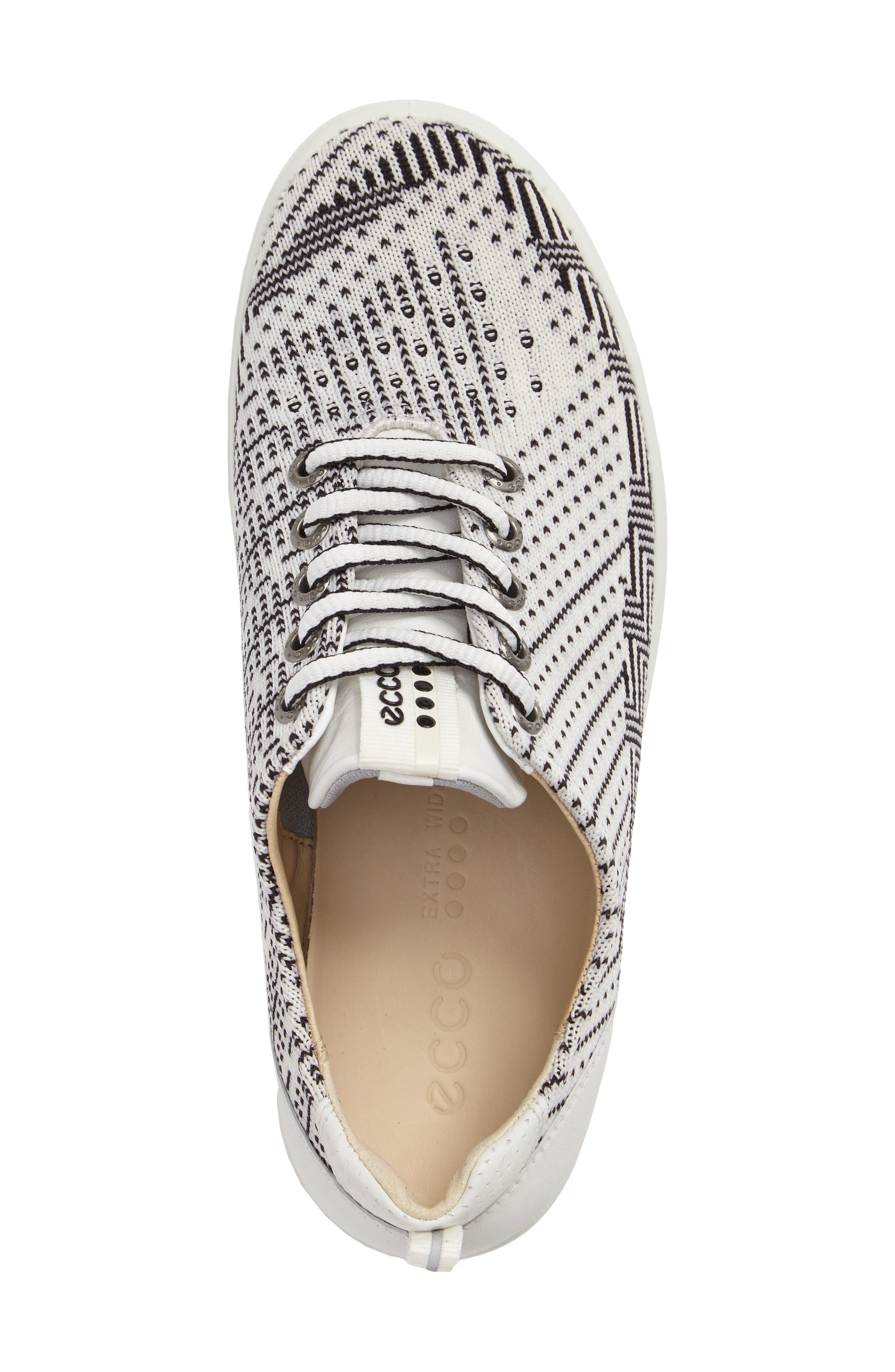 Casual Hybrid Knit Golf Sneaker,                             Alternate thumbnail 3, color,                             White/ Black/ White Leather