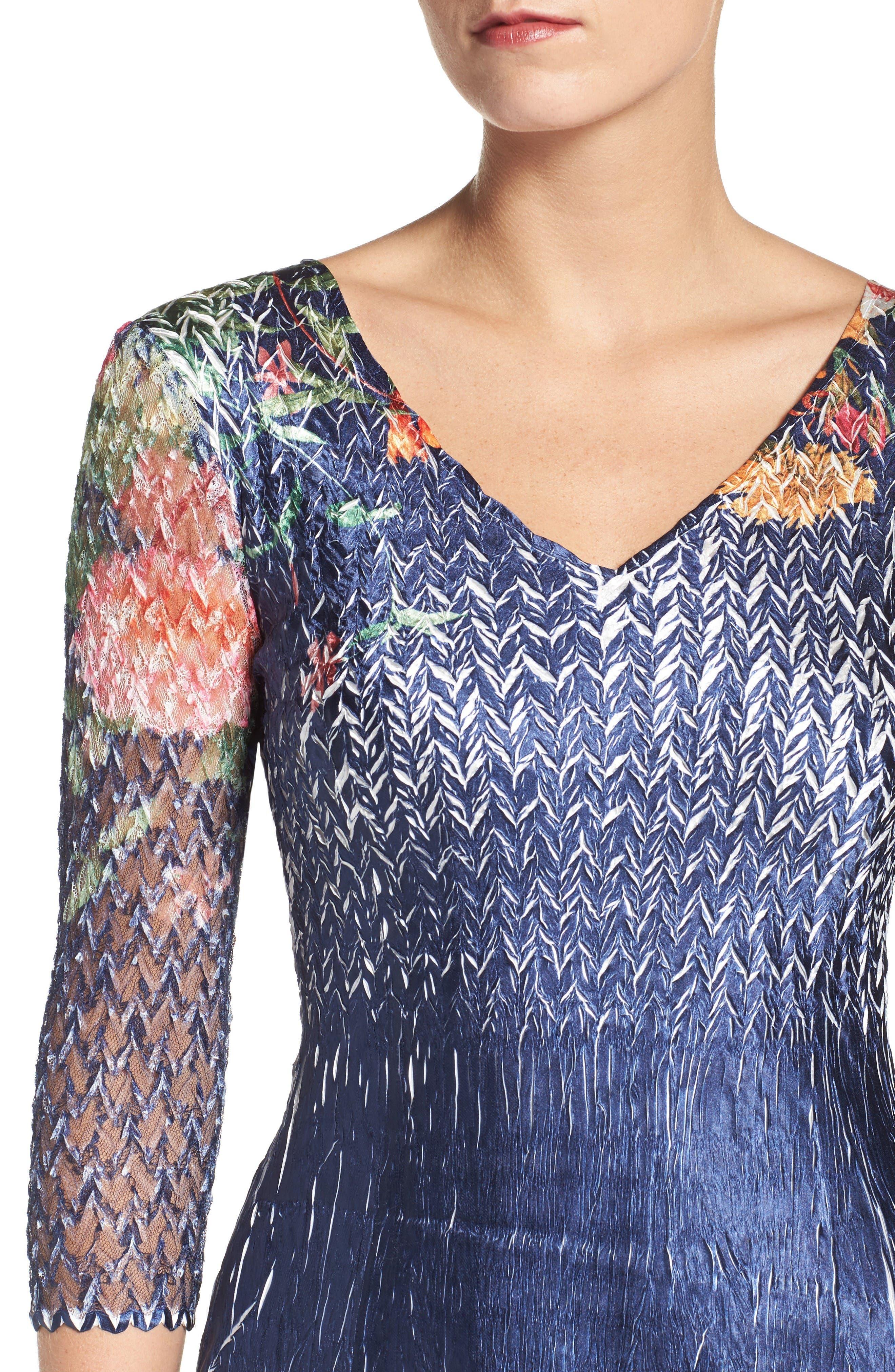 Alternate Image 4  - Komarov Floral Print A-Line Dress