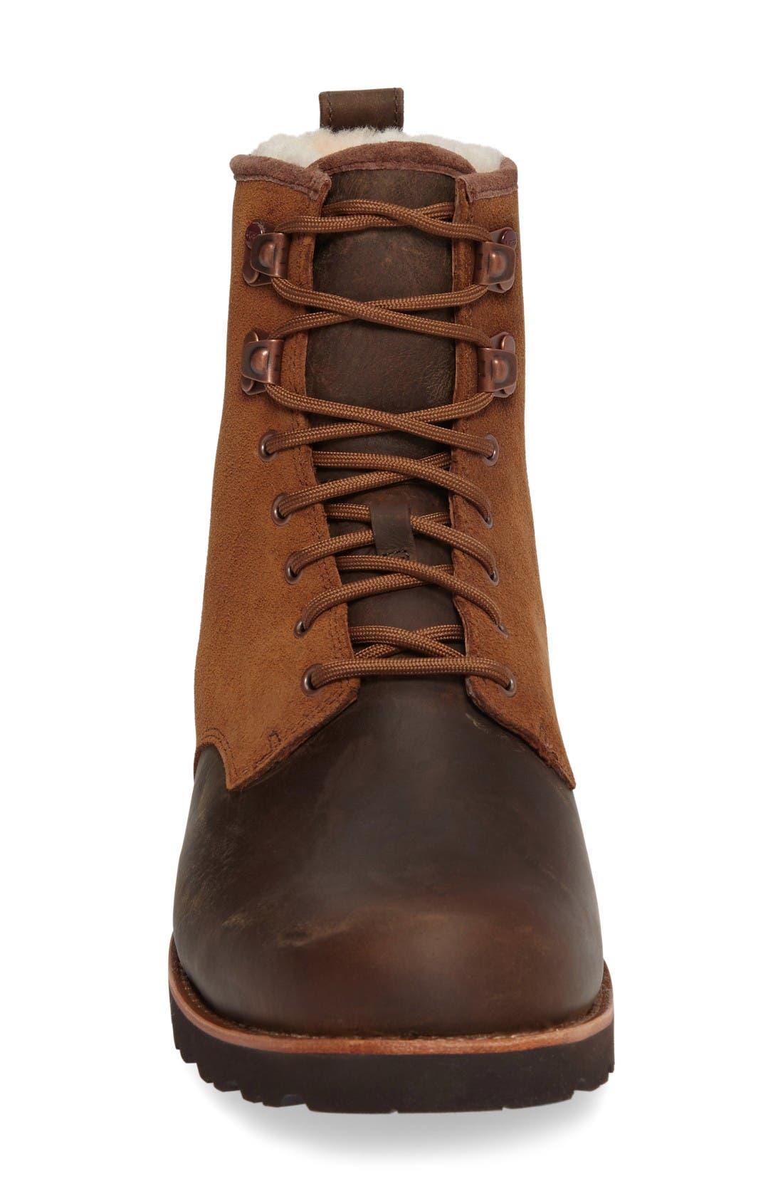 Alternate Image 3  - UGG® Hannen Plain Toe Waterproof Boot with Genuine Shearling (Men)