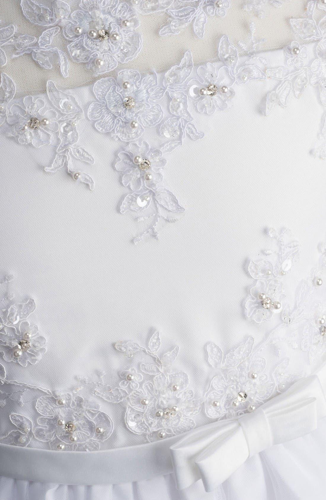 Alternate Image 3  - Lauren Marie Beaded Lace Bodice First Communion Dress (Little Girls & Big Girls)