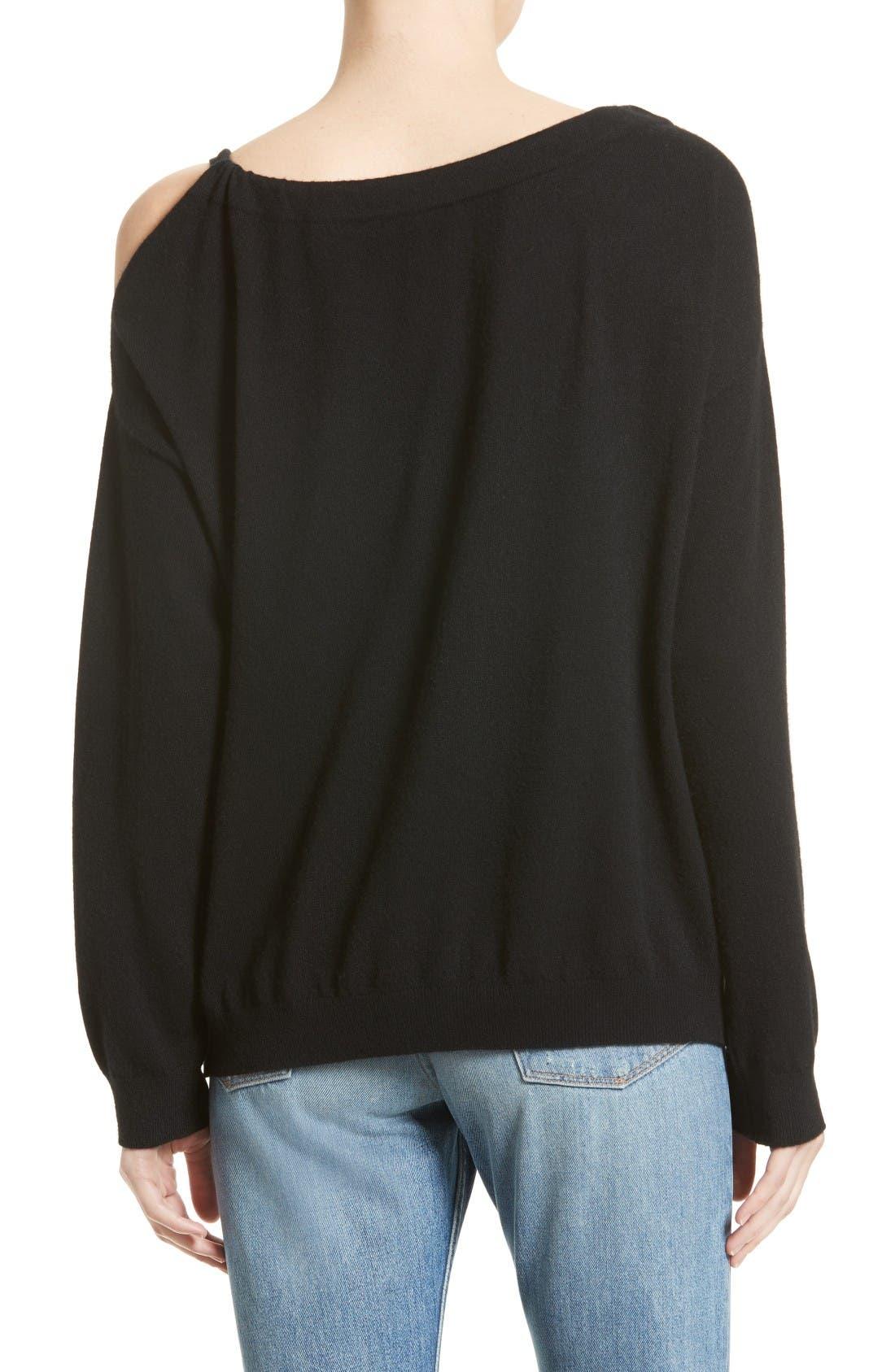 Alternate Image 3  - Vince Convertible Cold Shoulder Cashmere Sweater
