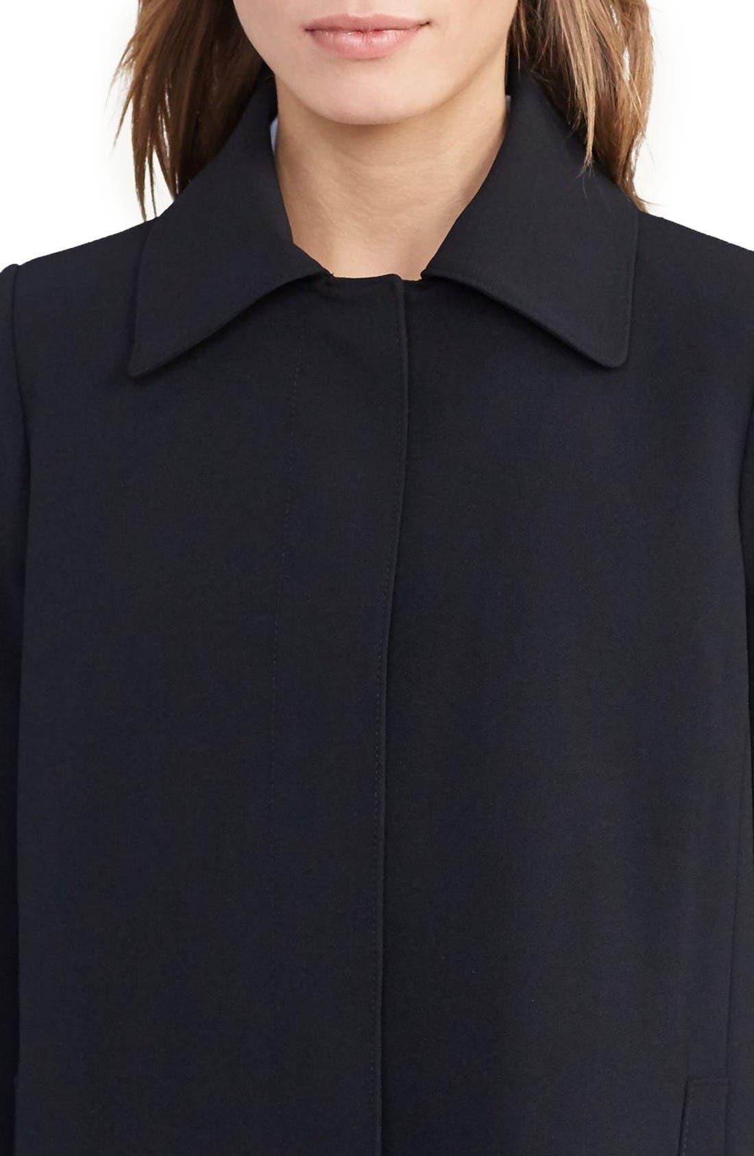 Crepe Jacket,                             Alternate thumbnail 3, color,                             Black