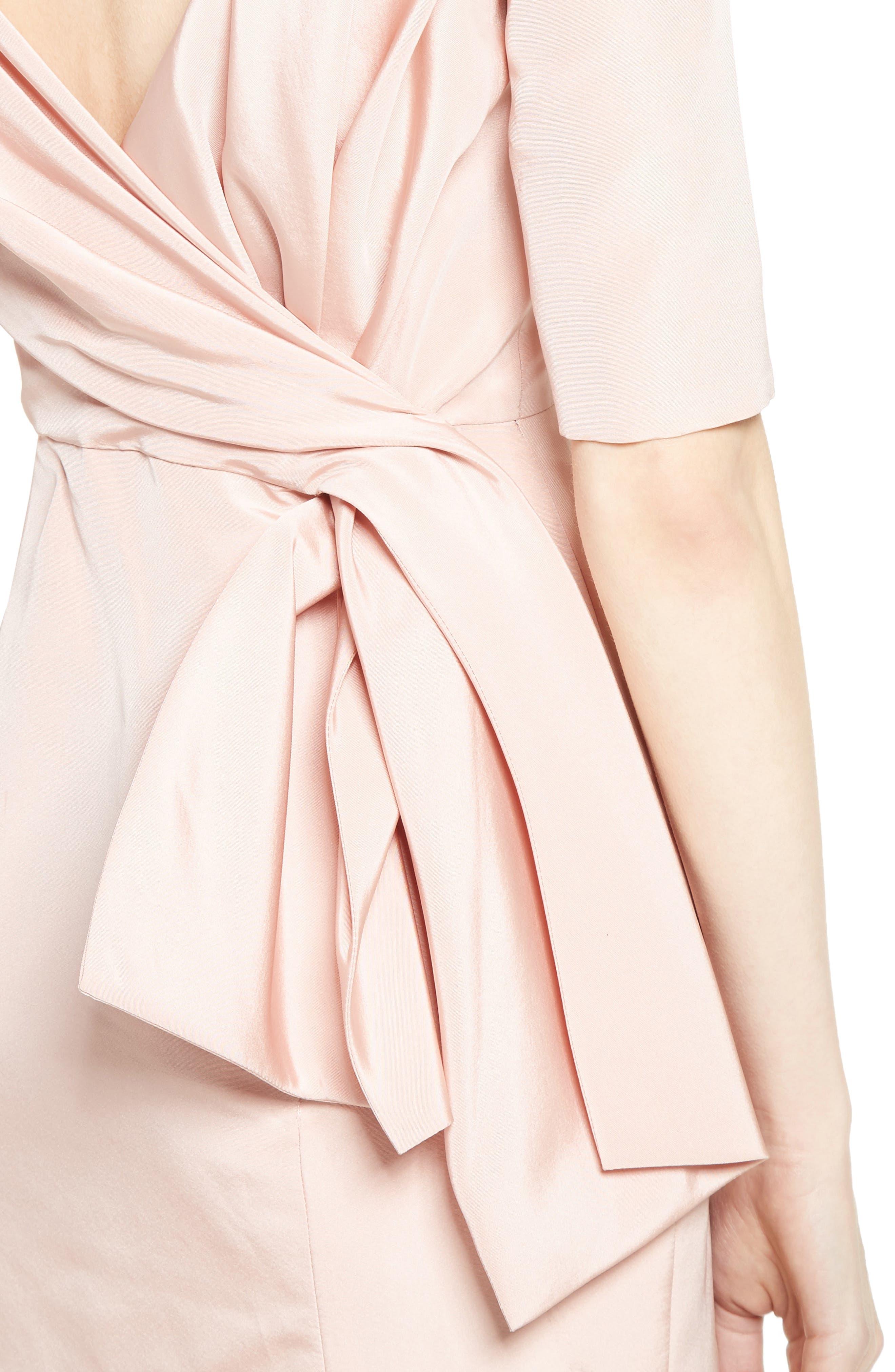 Alternate Image 5  - Carolina Herrera Draped V-Back Gown