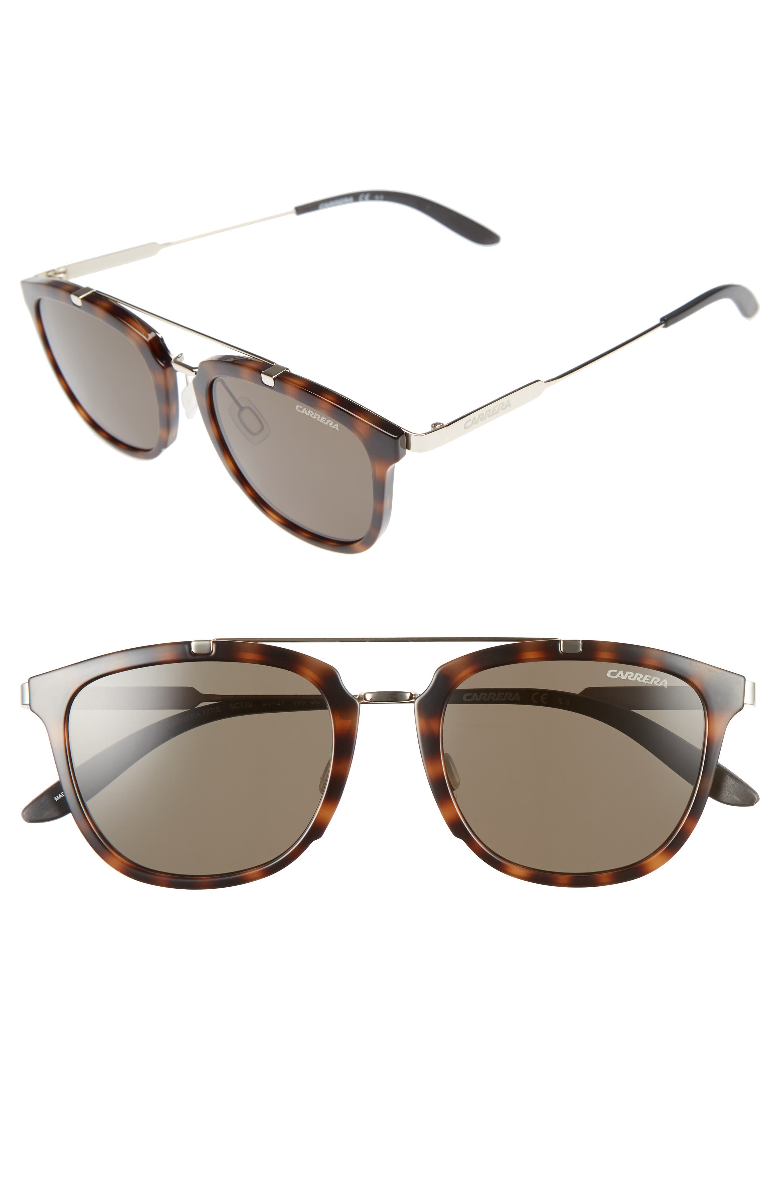 Carrera Eyewear 51mm Retro Sunglasses