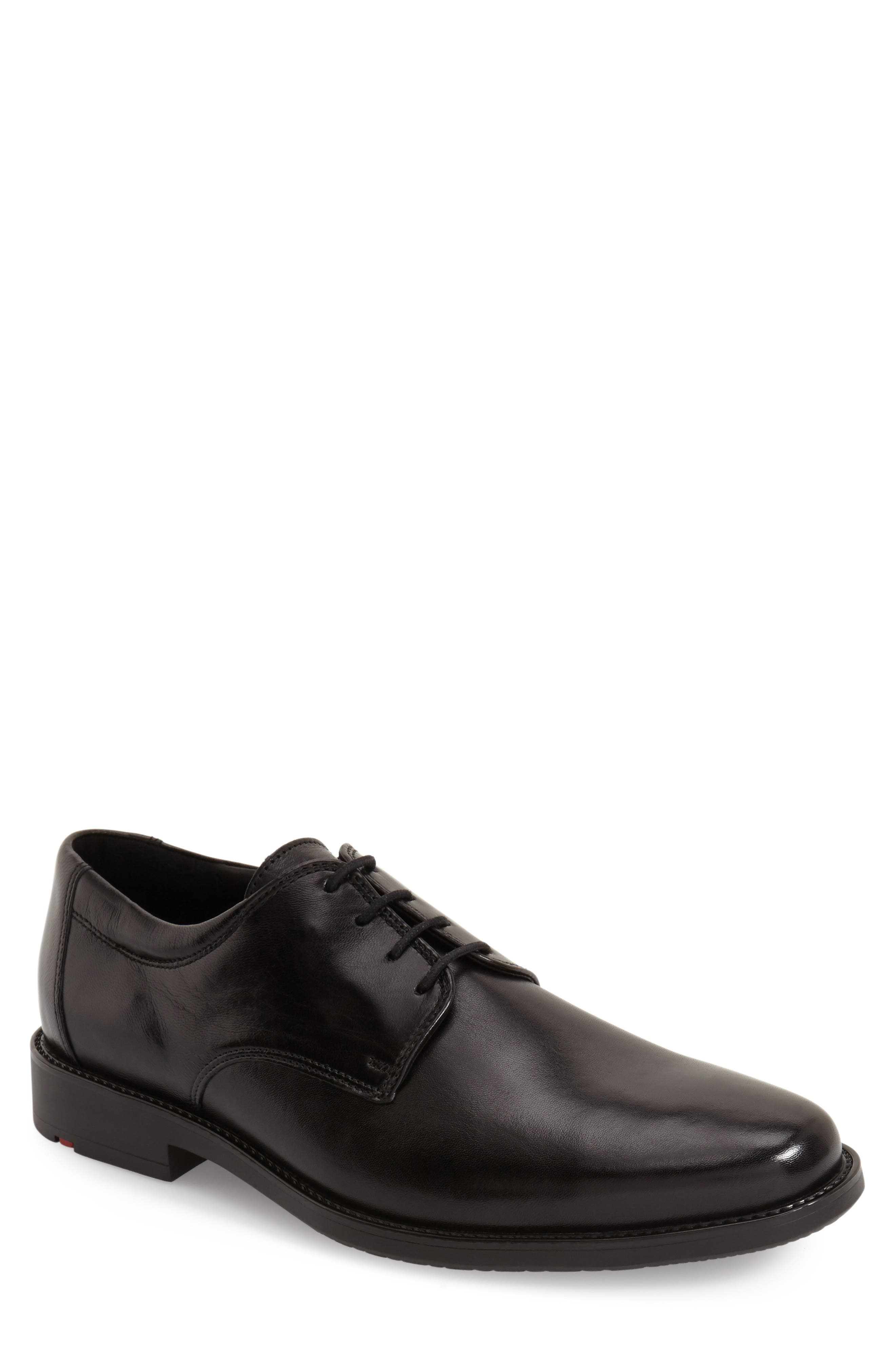 Nevio Plain Toe Derby,                         Main,                         color, Black