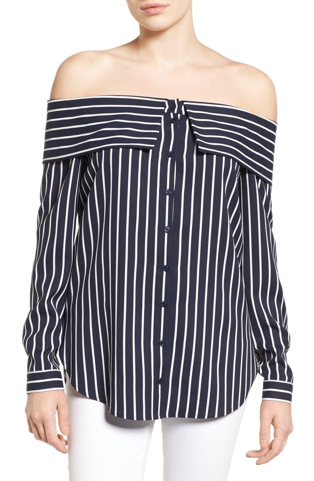 Main Image - Pleione Off the Shoulder Shirt