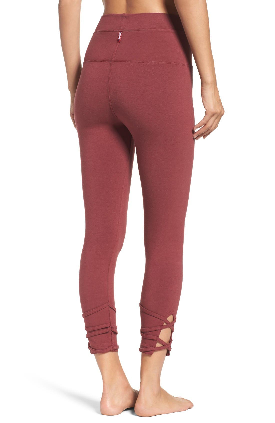 Alternate Image 2  - Hard Tail High Waist Crop Leggings
