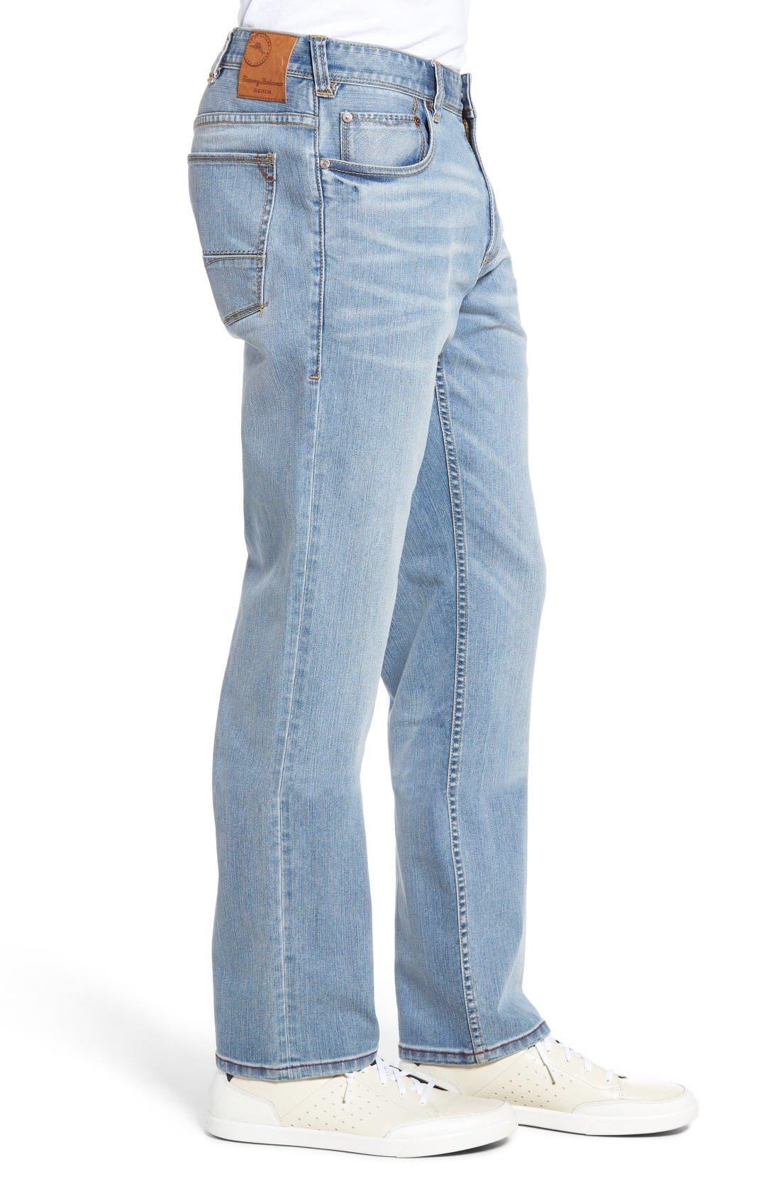Sorrento Straight Leg Jeans,                             Alternate thumbnail 3, color,                             Light Wash