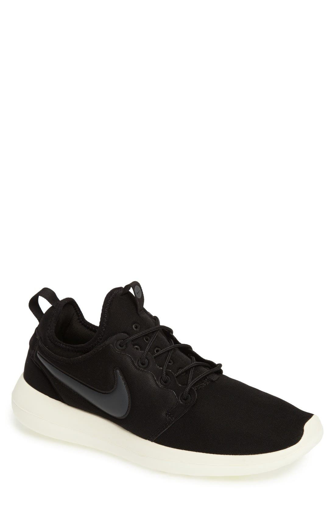 Roshe Two Sneaker,                         Main,                         color, Black/ Anthracite/ Sail/ Volt