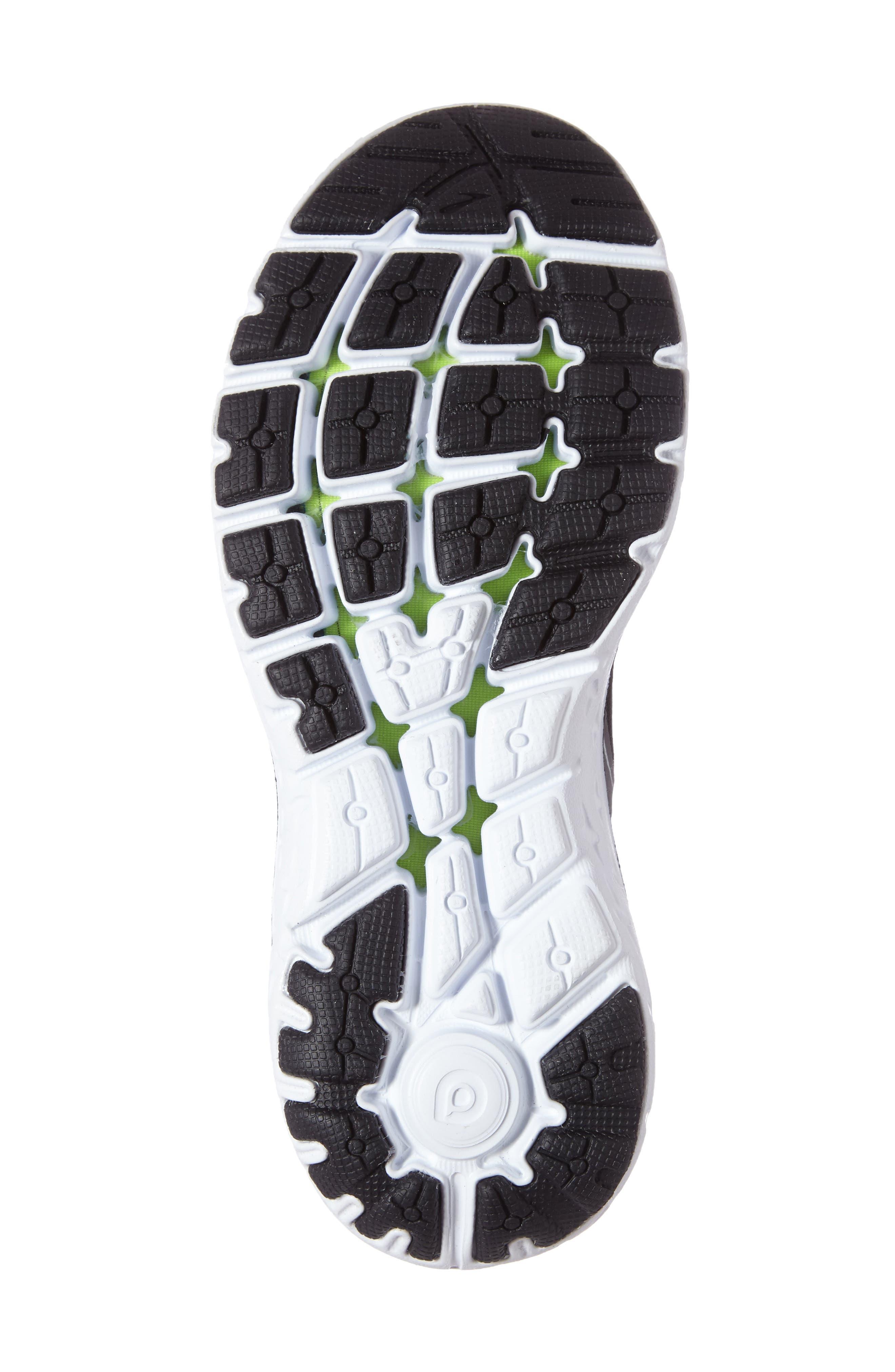 PureFlow 6 Running Shoe,                             Alternate thumbnail 4, color,                             Black/ Anthracite/ Silver