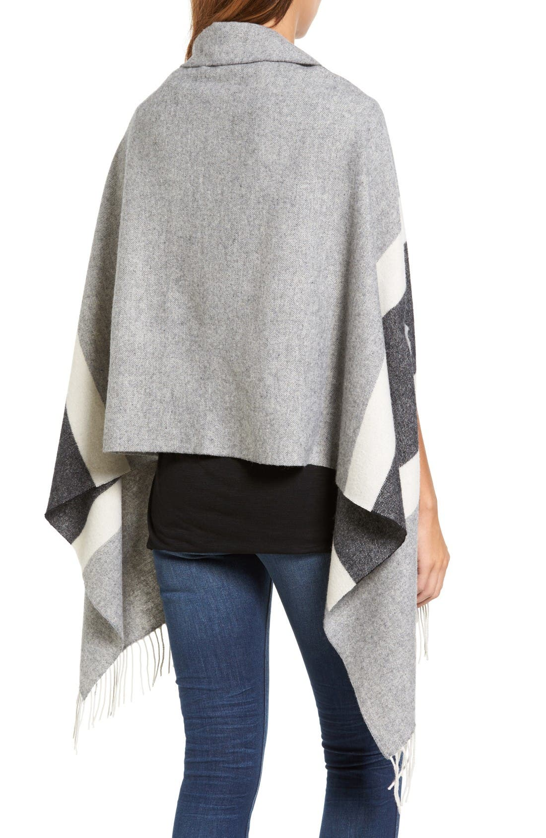 Alternate Image 2  - Madewell Stripe Cape Scarf
