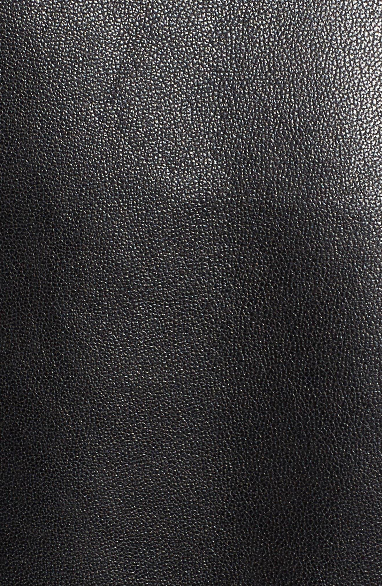 Alternate Image 5  - LAMARQUE Lambskin Leather Biker Jacket