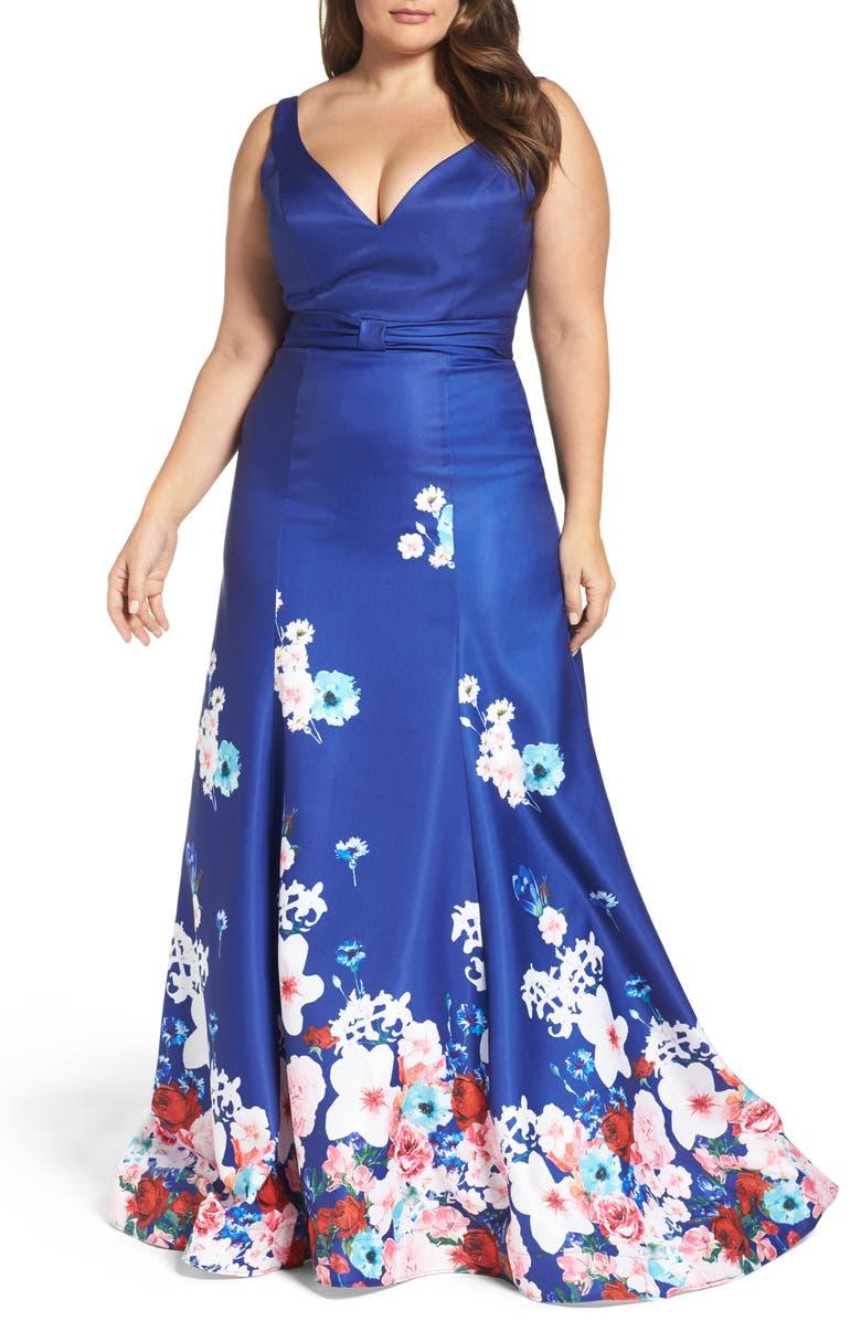 Floral A-Line Ballgown