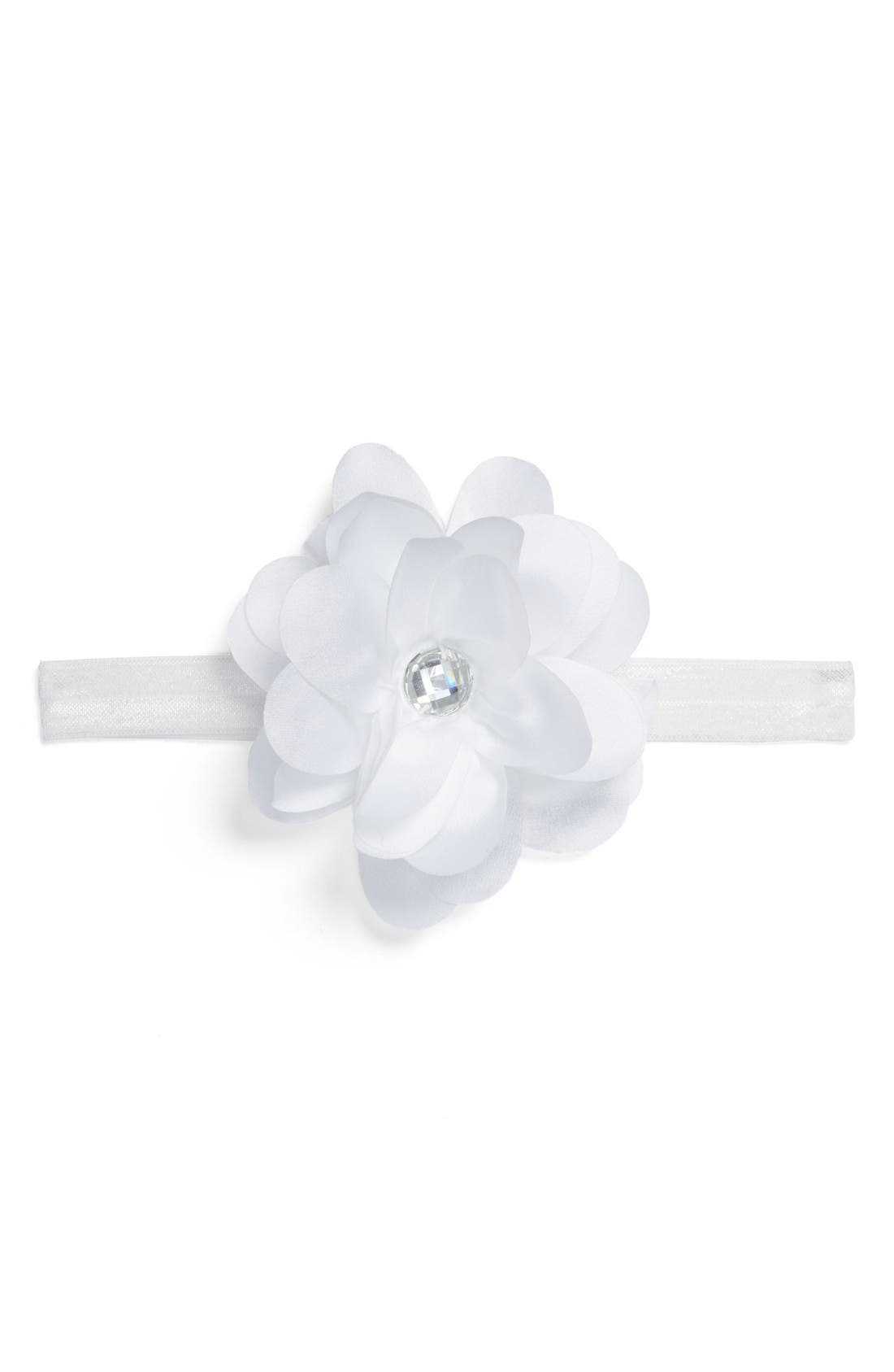 Alternate Image 1 Selected - PLH Bows & Laces Floral Headband (Baby Girls)