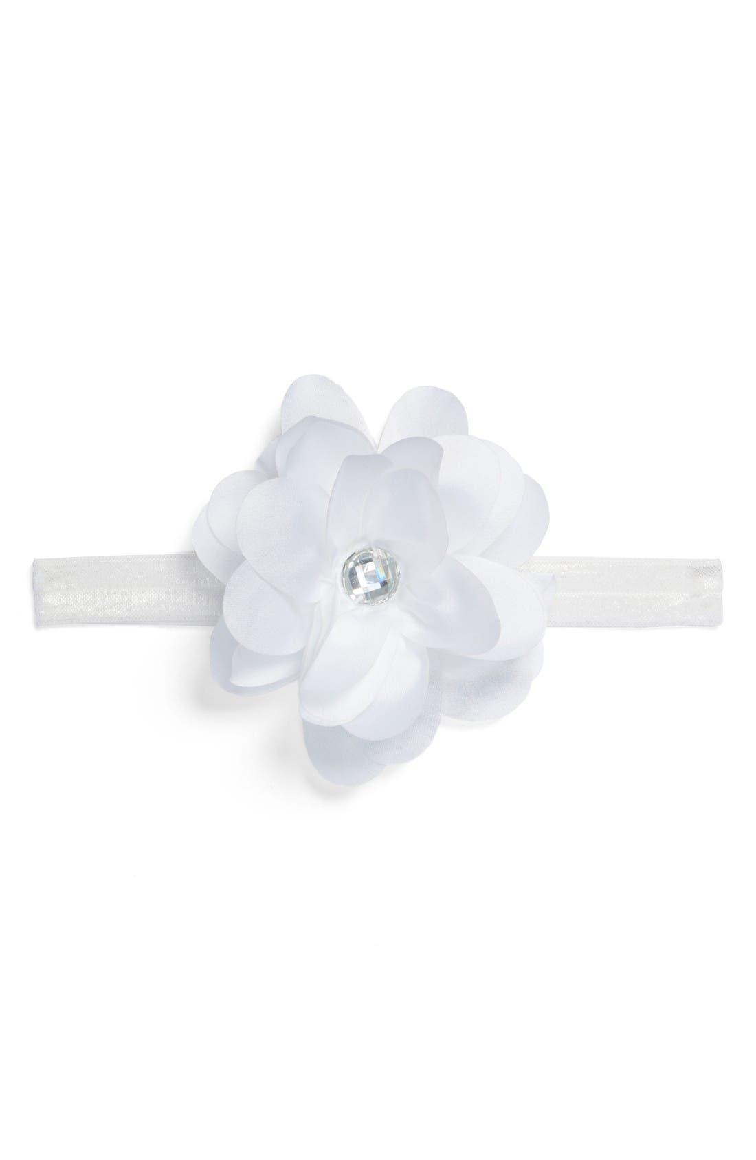 Floral Headband,                             Main thumbnail 1, color,                             White
