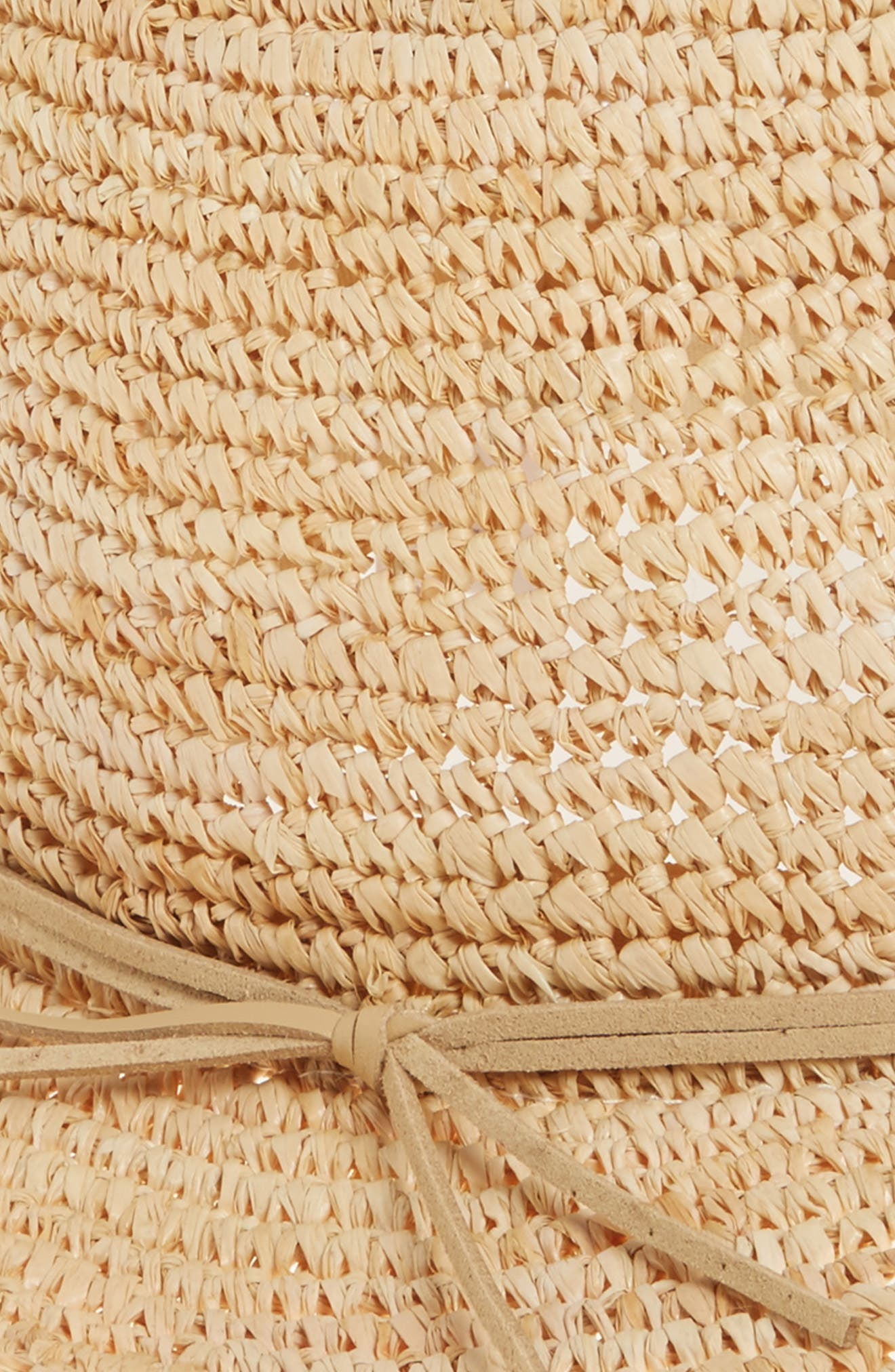 Caslon Raffia Panama Hat,                             Alternate thumbnail 2, color,                             Natural Combo