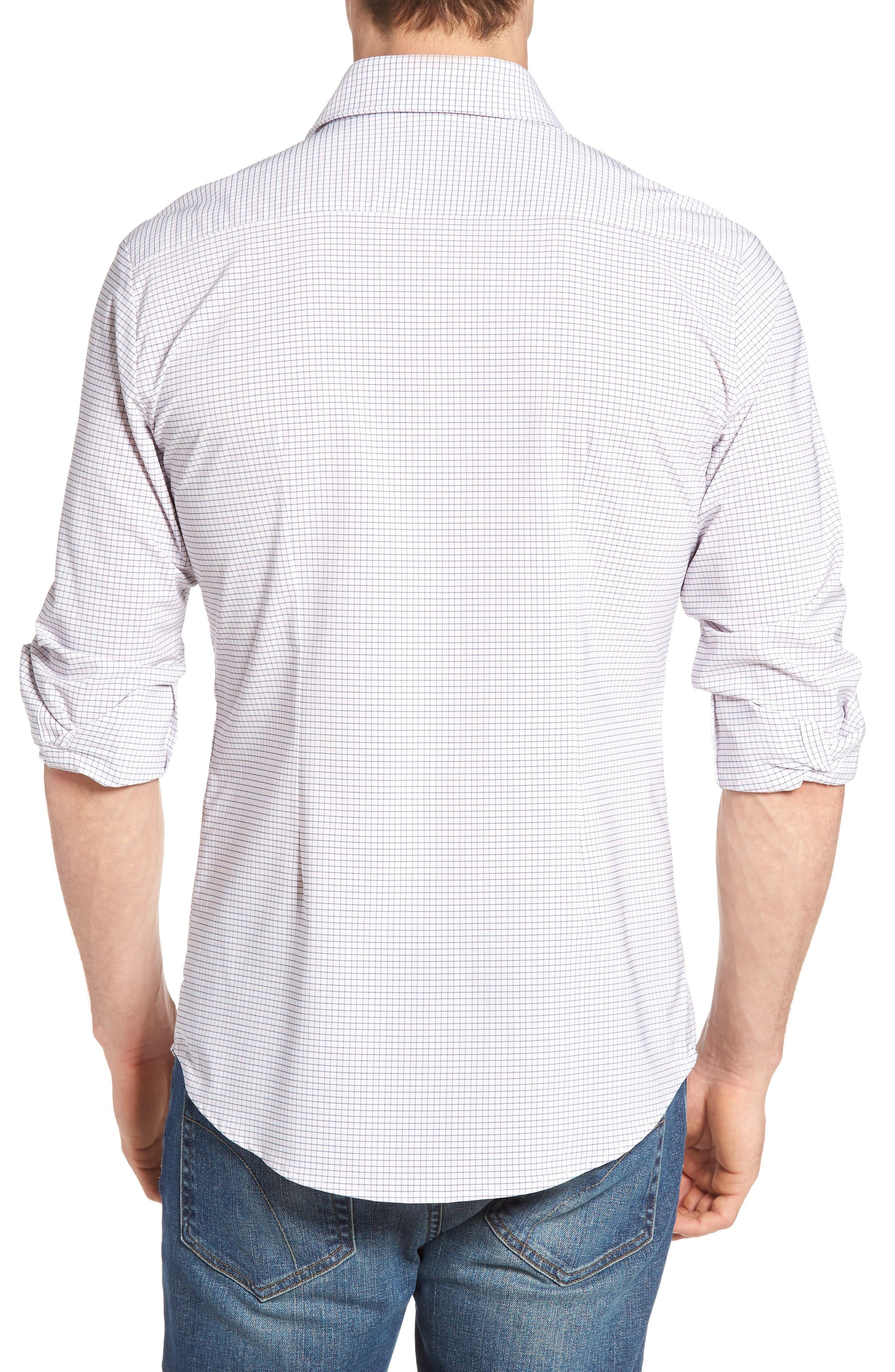 Alternate Image 2  - Mizzen+Main Fowler Illusion Gingham Performance Sport Shirt