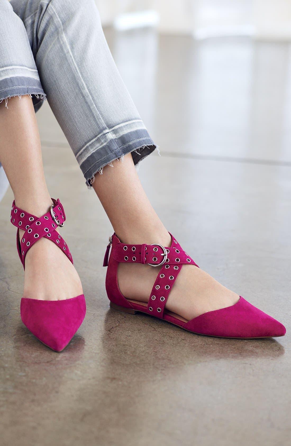 Alternate Image 7  - Halogen® Molly Pointy Toe Flat (Women)