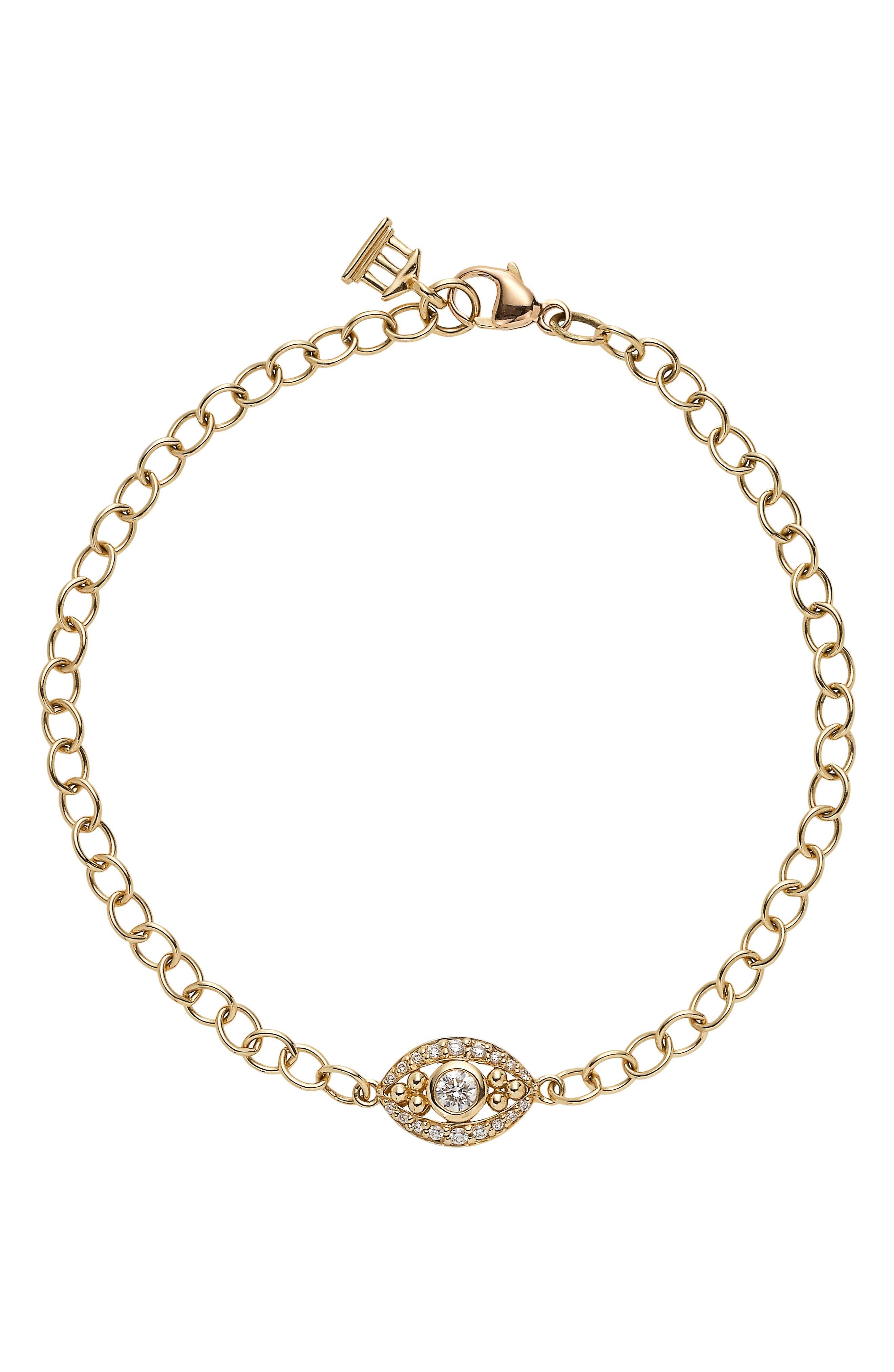 Temple St. Clair Diamond Evil Eye Line Bracelet