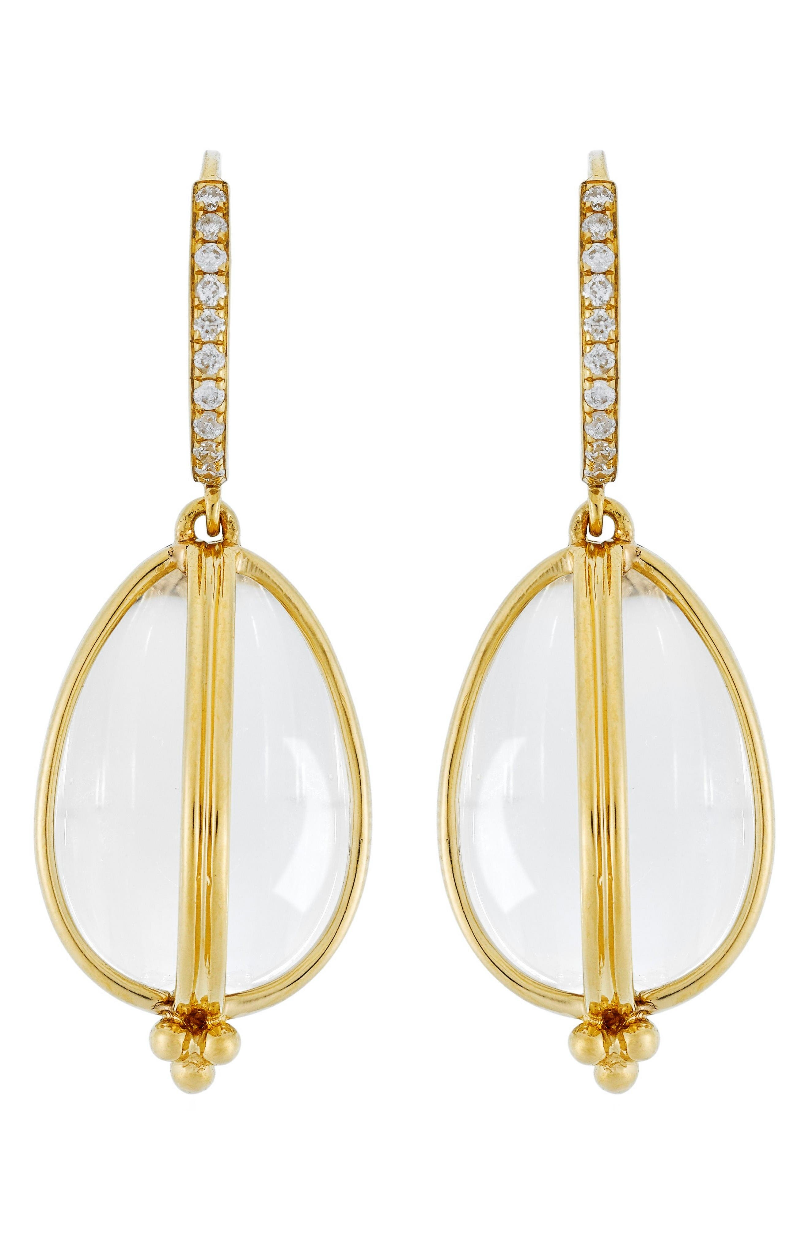 TEMPLE ST CLAIR Temple St. Clair Dia Classic Amulet Drop Earrings