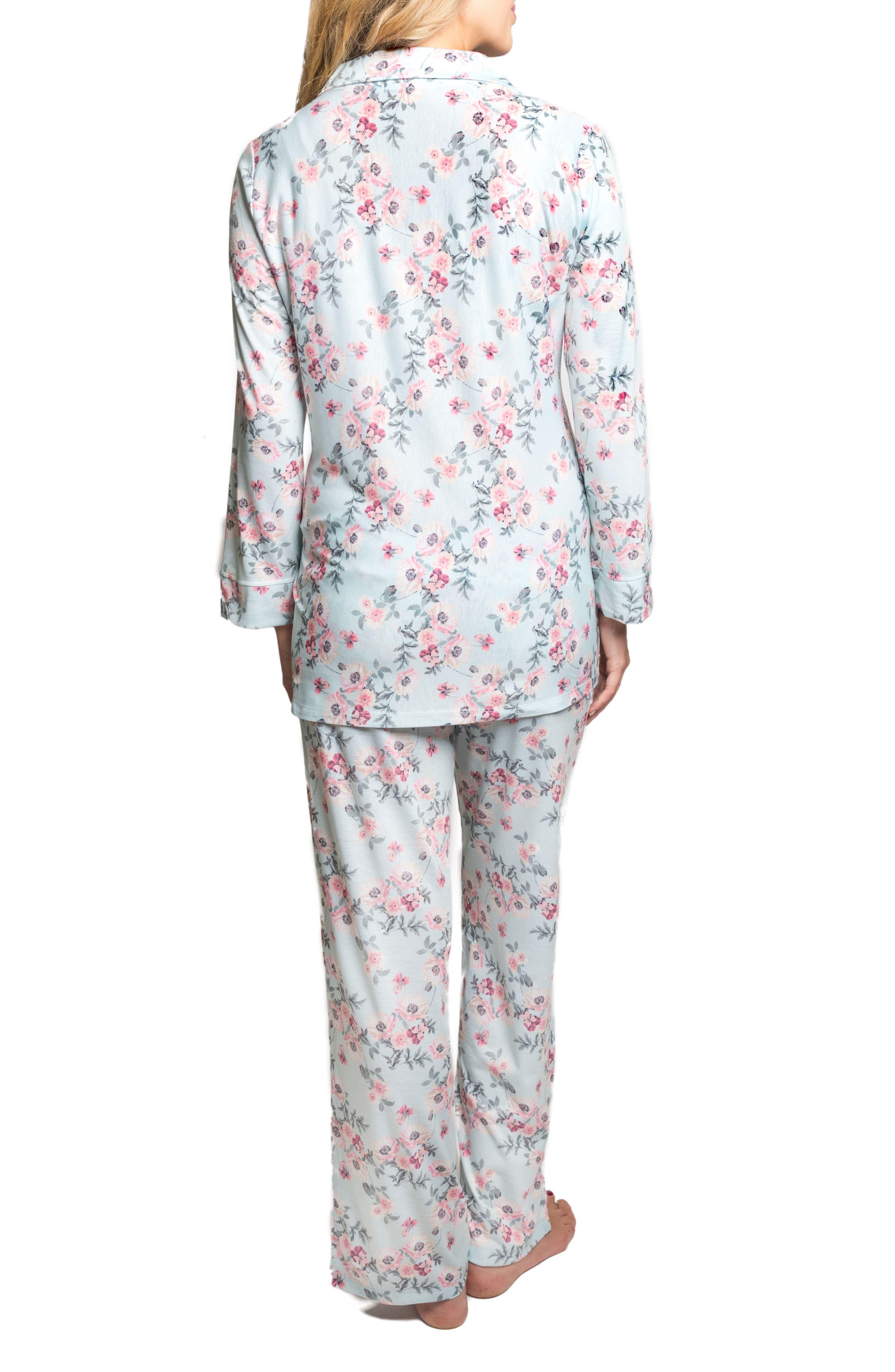 Alternate Image 2  - Everly Grey Helena Maternity/Nursing Pajamas