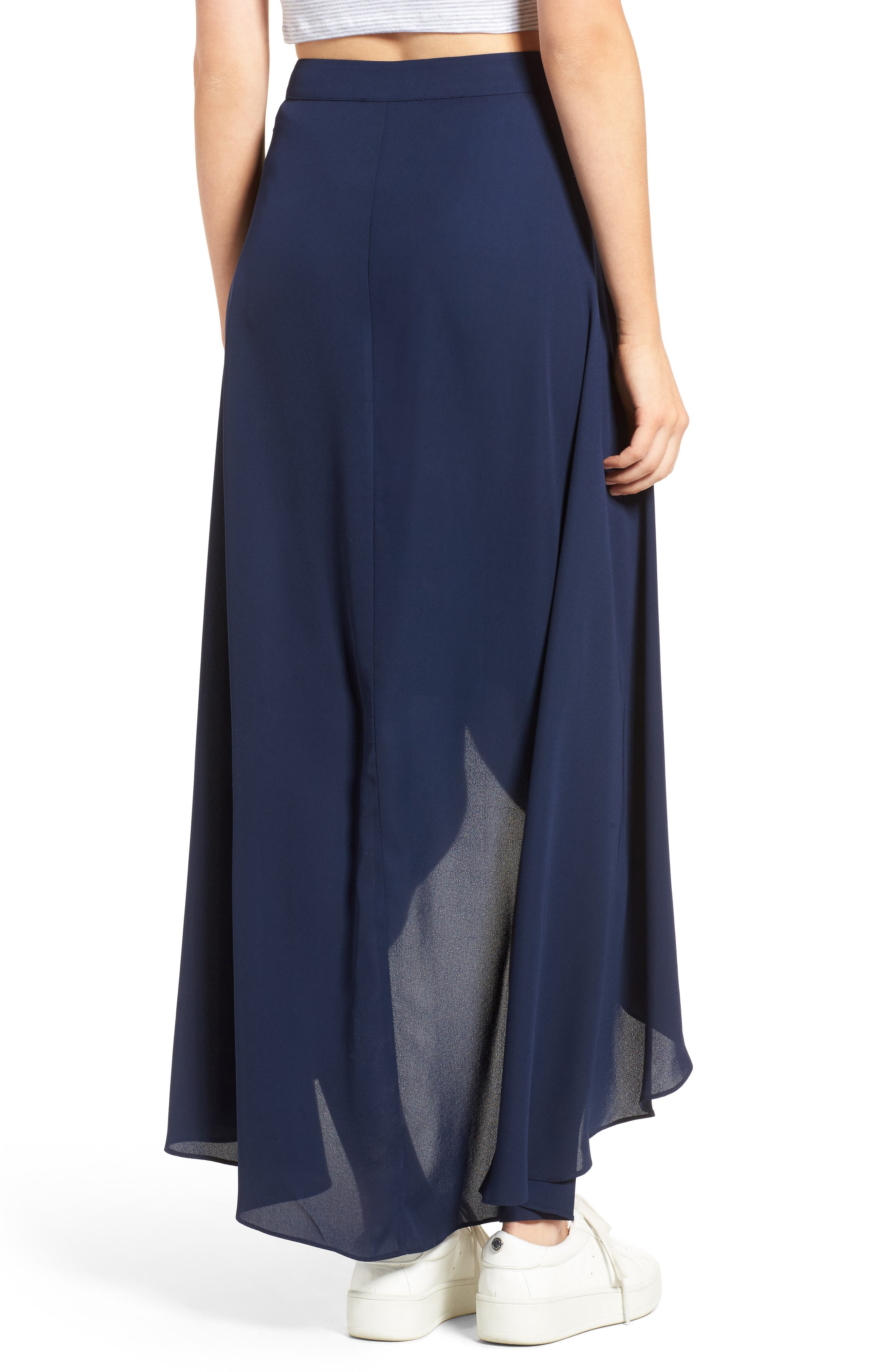 Alternate Image 2  - Soprano High/Low Wrap Skirt