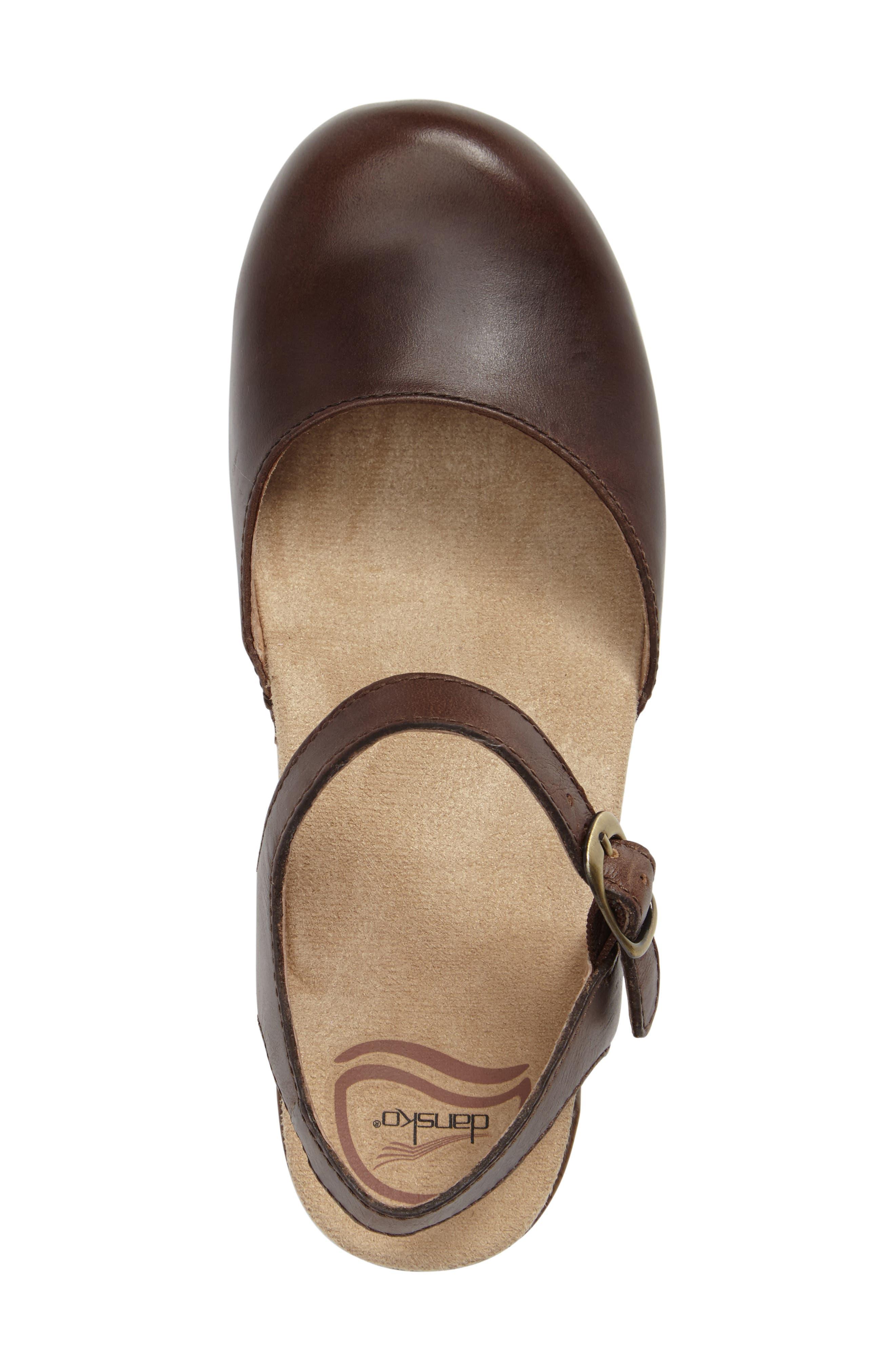'Sam' Clog,                             Alternate thumbnail 3, color,                             Teak Vintage Leather