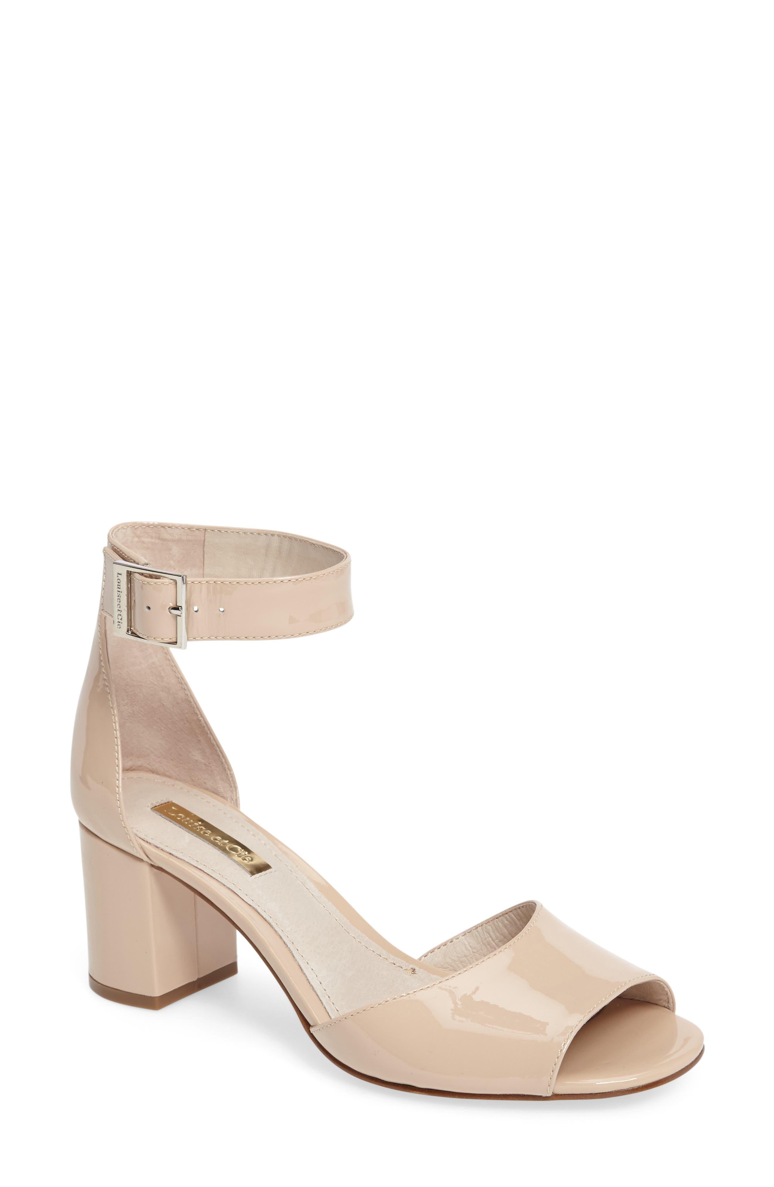 Karisa Ankle Cuff Sandal,                         Main,                         color, Angel Food Patent