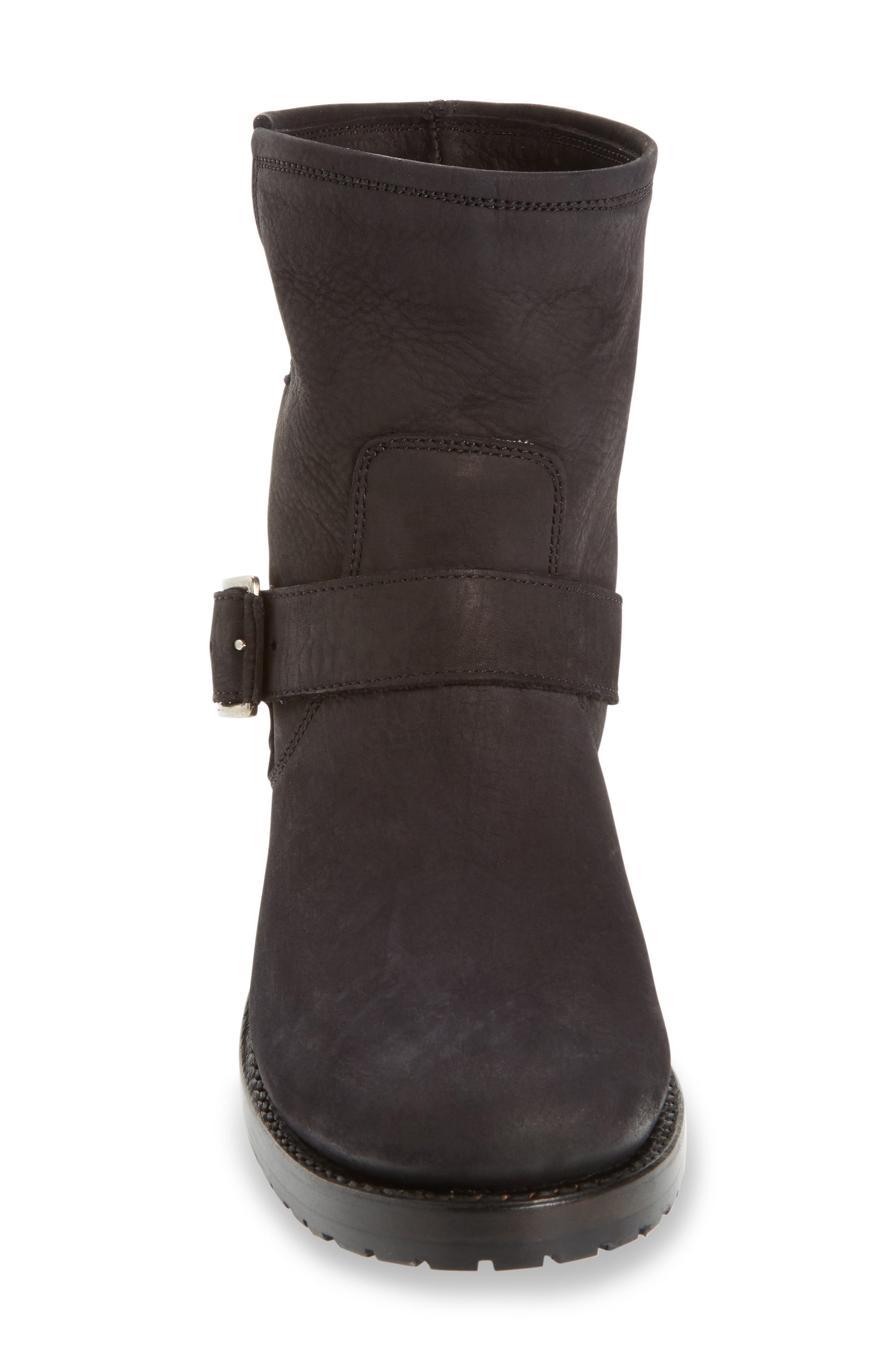 'Natalie' Engineer Boot,                             Alternate thumbnail 3, color,                             Black/ Black