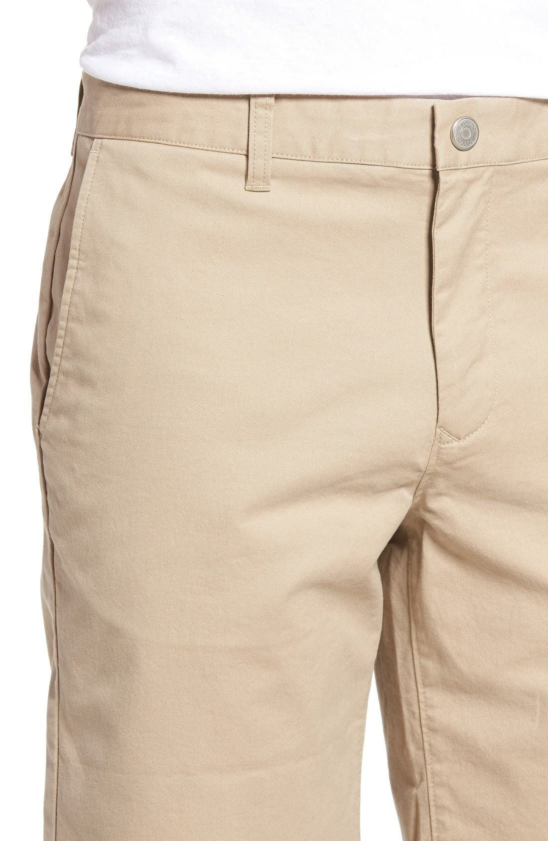Stretch Washed Chino 9-Inch Shorts,                             Alternate thumbnail 4, color,                             True Khaki