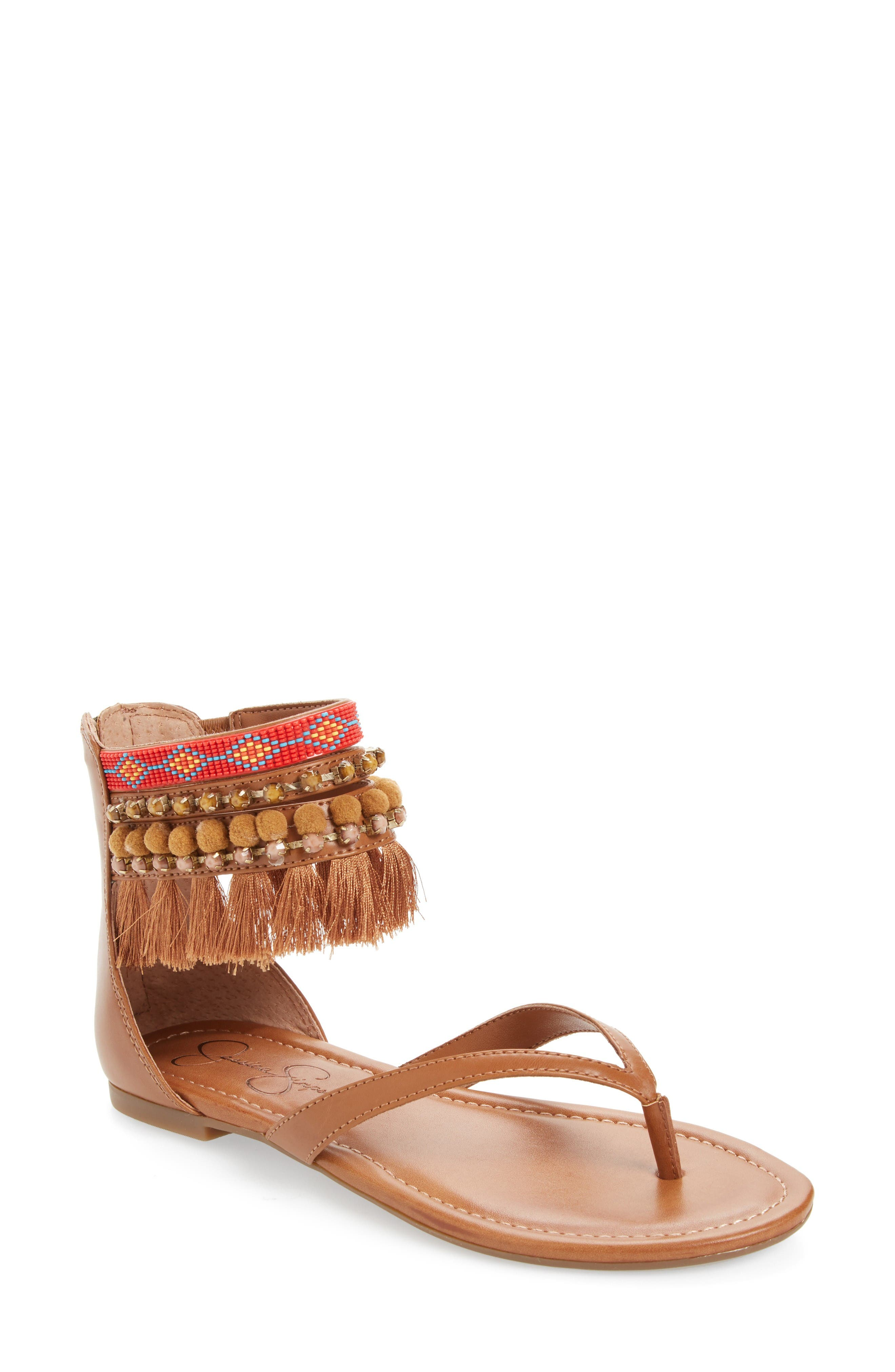 Alternate Image 1 Selected - Jessica Simpson Raquelle Embellished Sandal (Women)